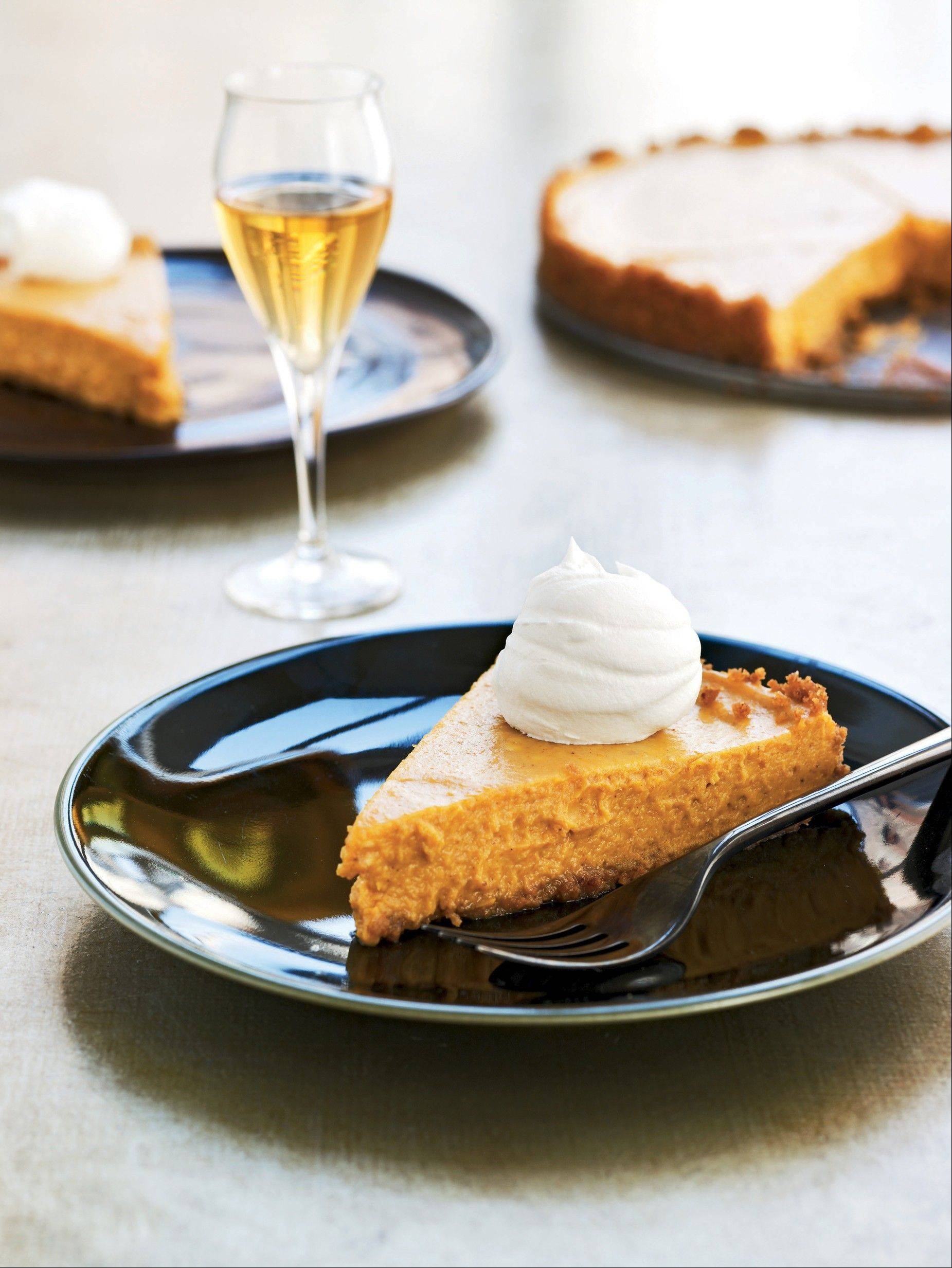 This autumnal Vanilla-Bourbon Pumpkin Tart is one of the many too-good-to-be-true recipes in �The New Way to Cook Light� by the editors at Cooking Light magazine.