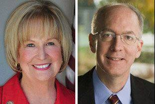 Republican Judy Biggert is running against Democrat Bill Foster in the 11th Congressional District race.