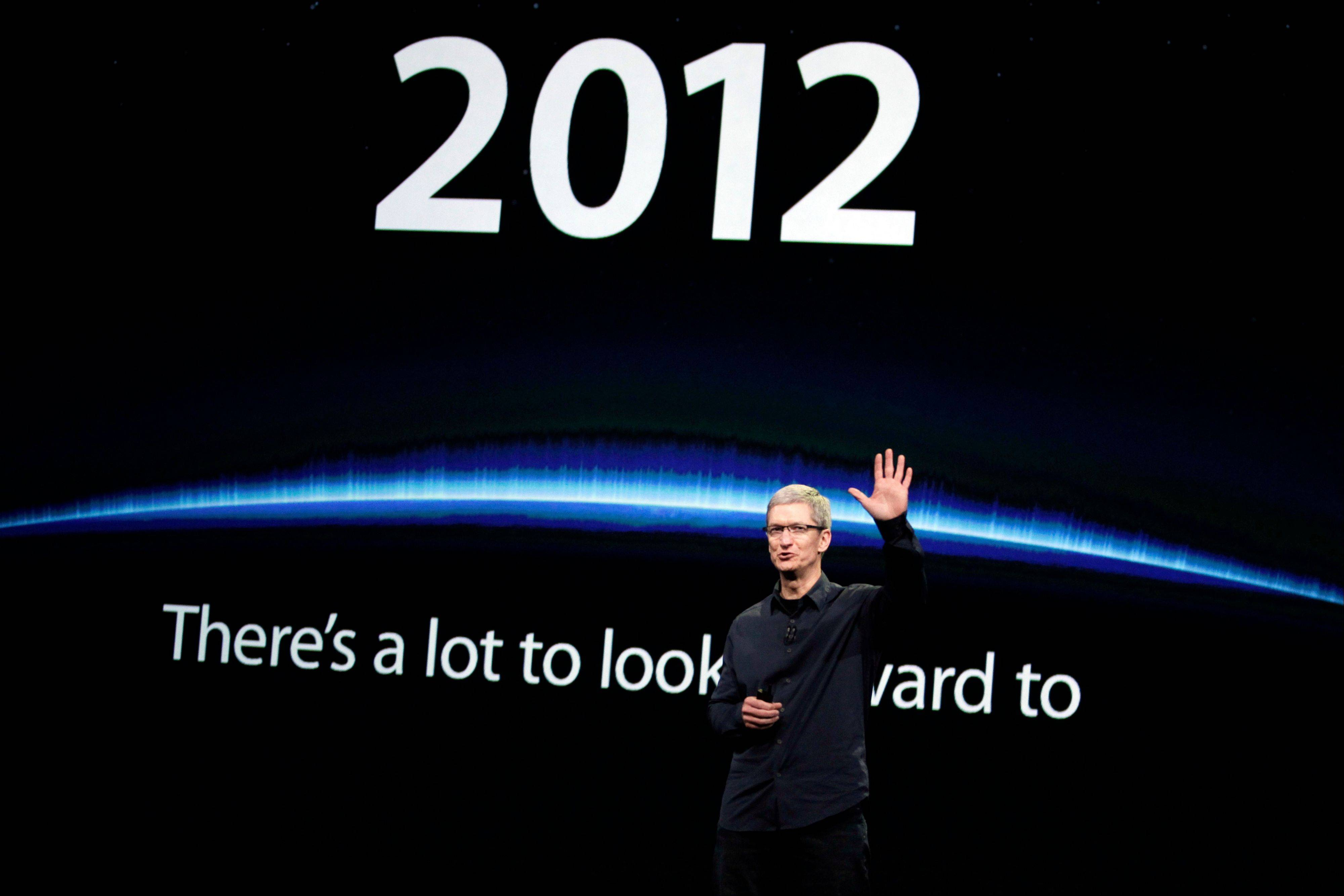 Apple CEO Tim Cook announces a new iPad during an Apple announcement March 7. Those who follow Apple believe they have figured out most of the particulars of a smaller iPad expected to be revealed on Tuesday.