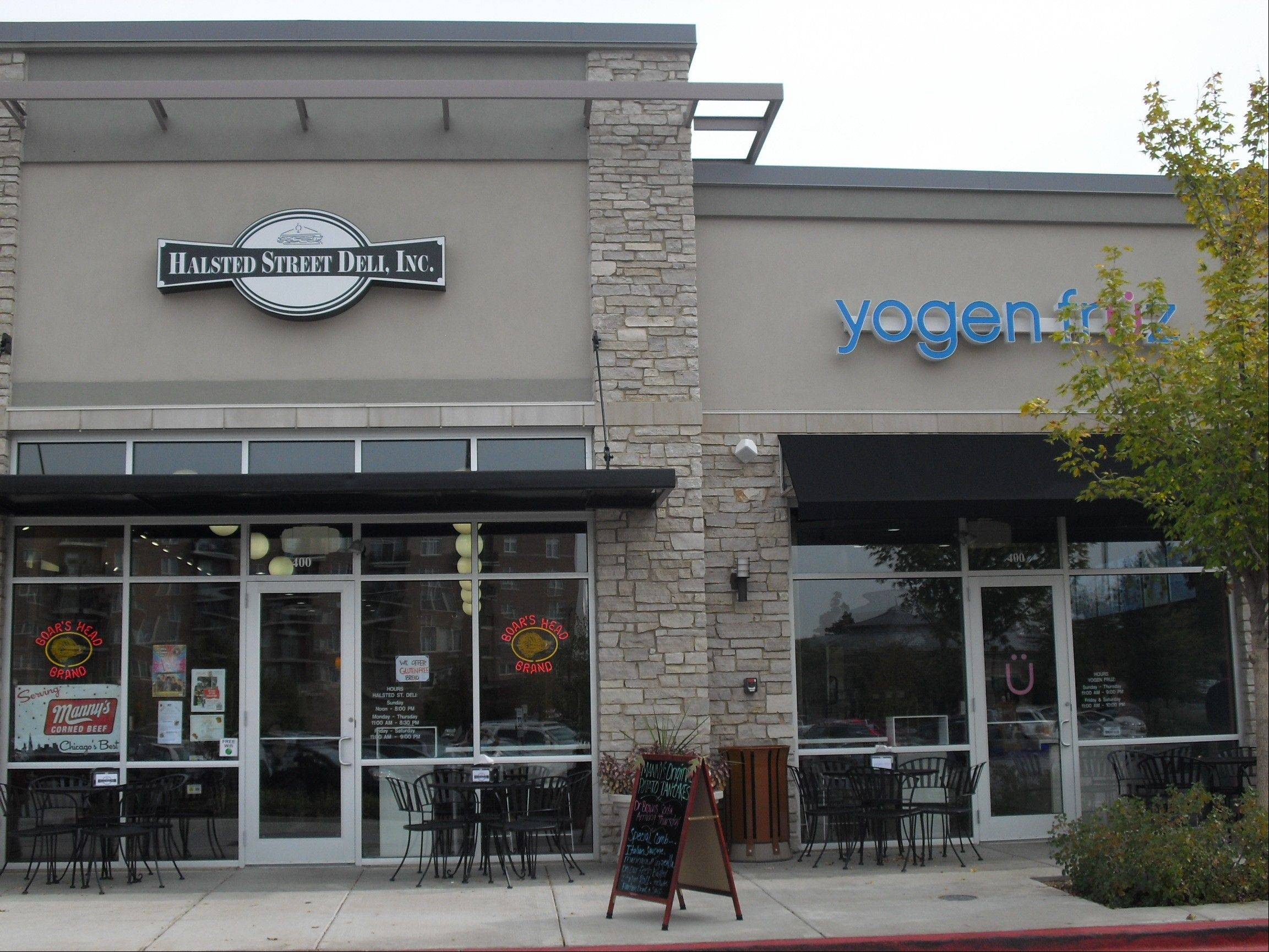 Halsted Street Deli / Yogen Fruz recently opened in Vernon Hills. The owners are attempting to bring the feel of an authentic Chicago deli to Lake County.