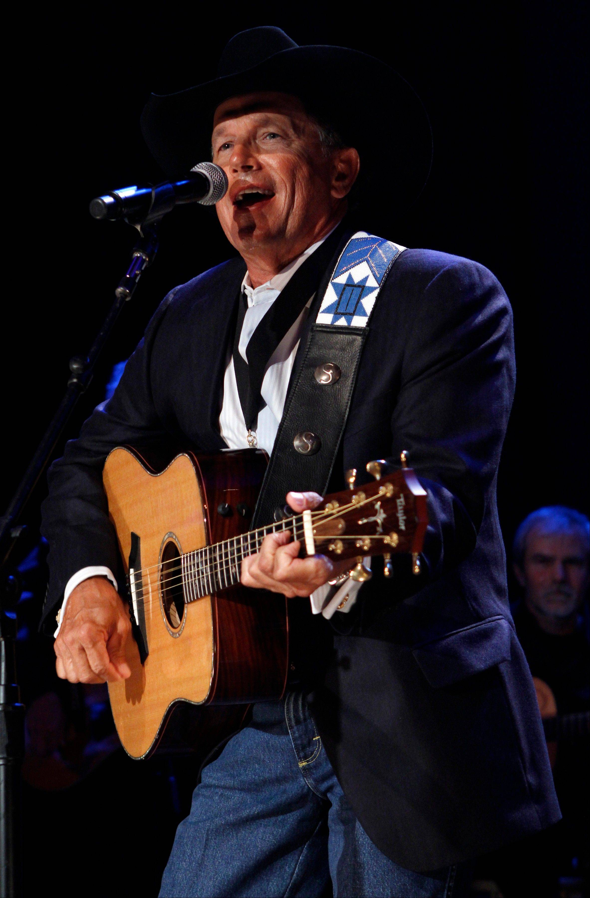 George Strait performs at the Country Music Hall of Fame Inductions on Sunday in Nashville, Tenn.