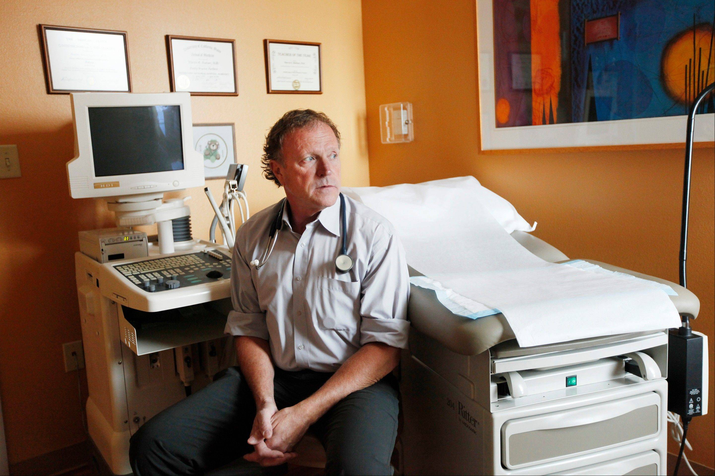 While the majority of Dr. Marvin E. Buehner's work in Rapid City, S.D., is delivering babies, he can perform pregnancy terminations only when there is a risk to the mother's life.