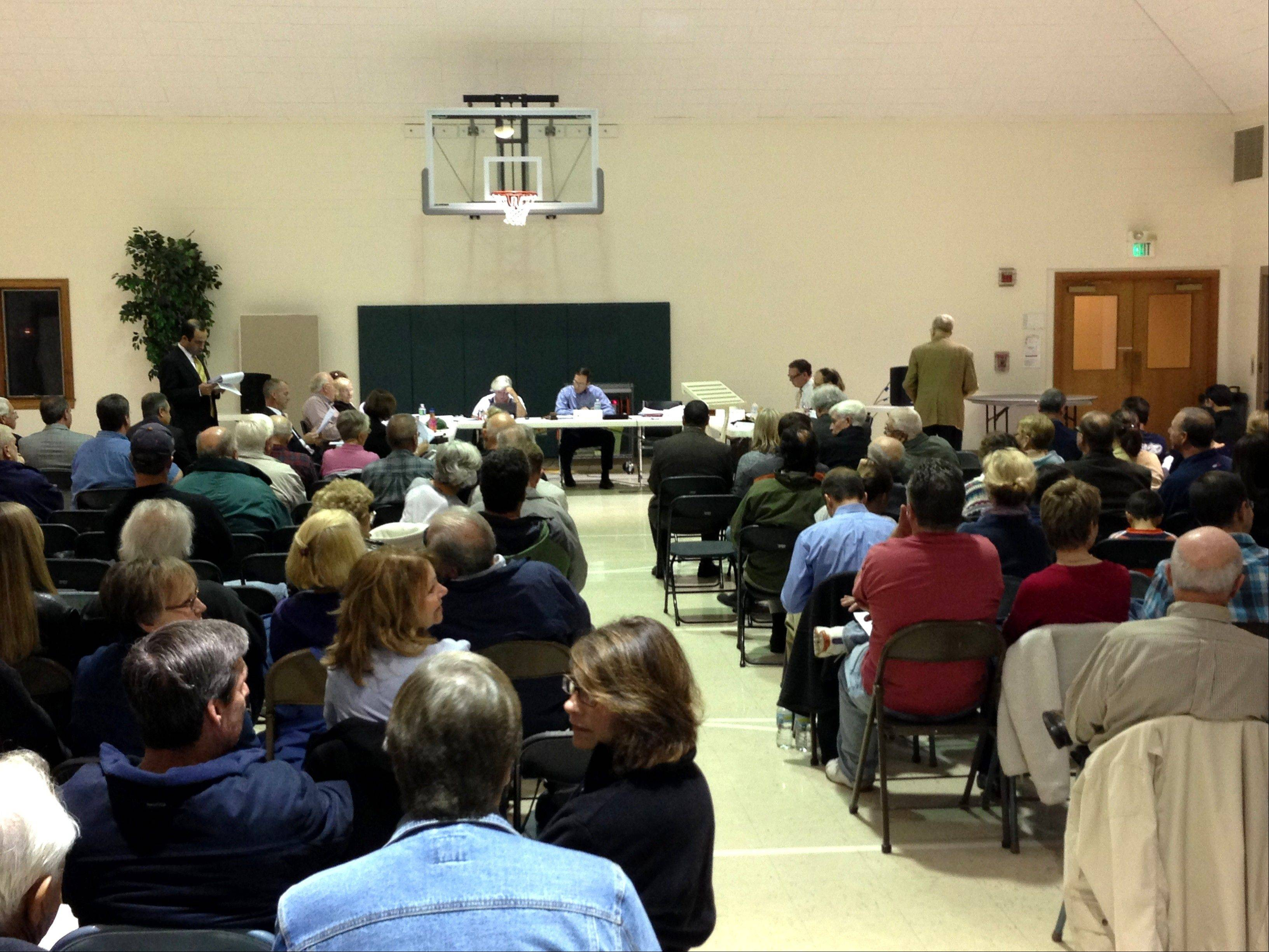 More than 100 Campton Hills residents filled asked a series of questions about a proposed drug and alcohol treatment facility Monday night. Residents made it clear they don't think the facility would be a positive addition to the community.