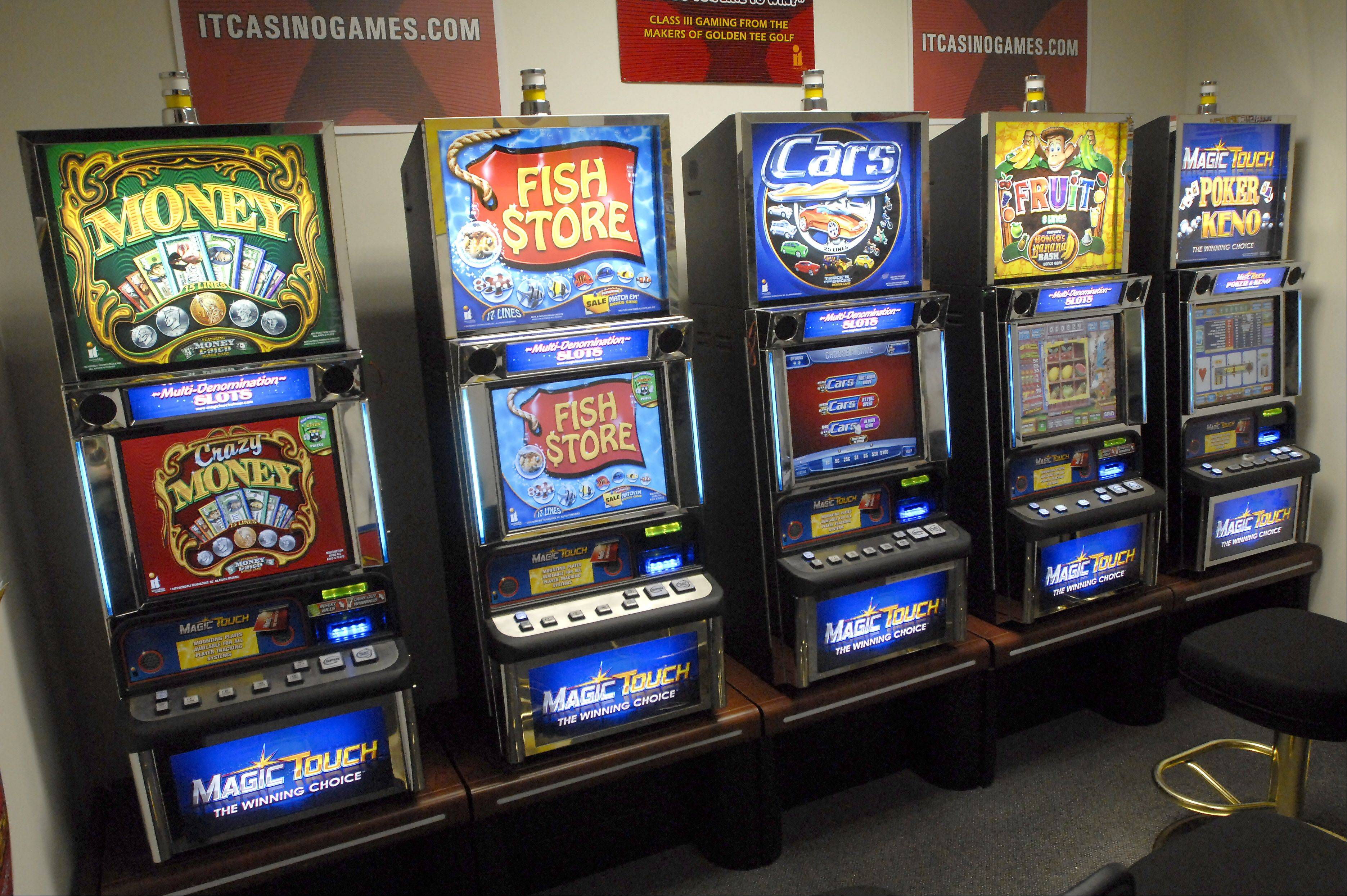 Video gambling machines like these could soon be added to Mundelein bars and restaurants, among other locations in town.