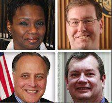 Upper, from left, Democrat Sharon Bryant and Republican John Curran, and lower, from left, Republican Gary Grasso and Republican Brian Krajewski, are candidates for DuPage County Board District 3 in the 2012 General Election. Voters are asked to vote for three.