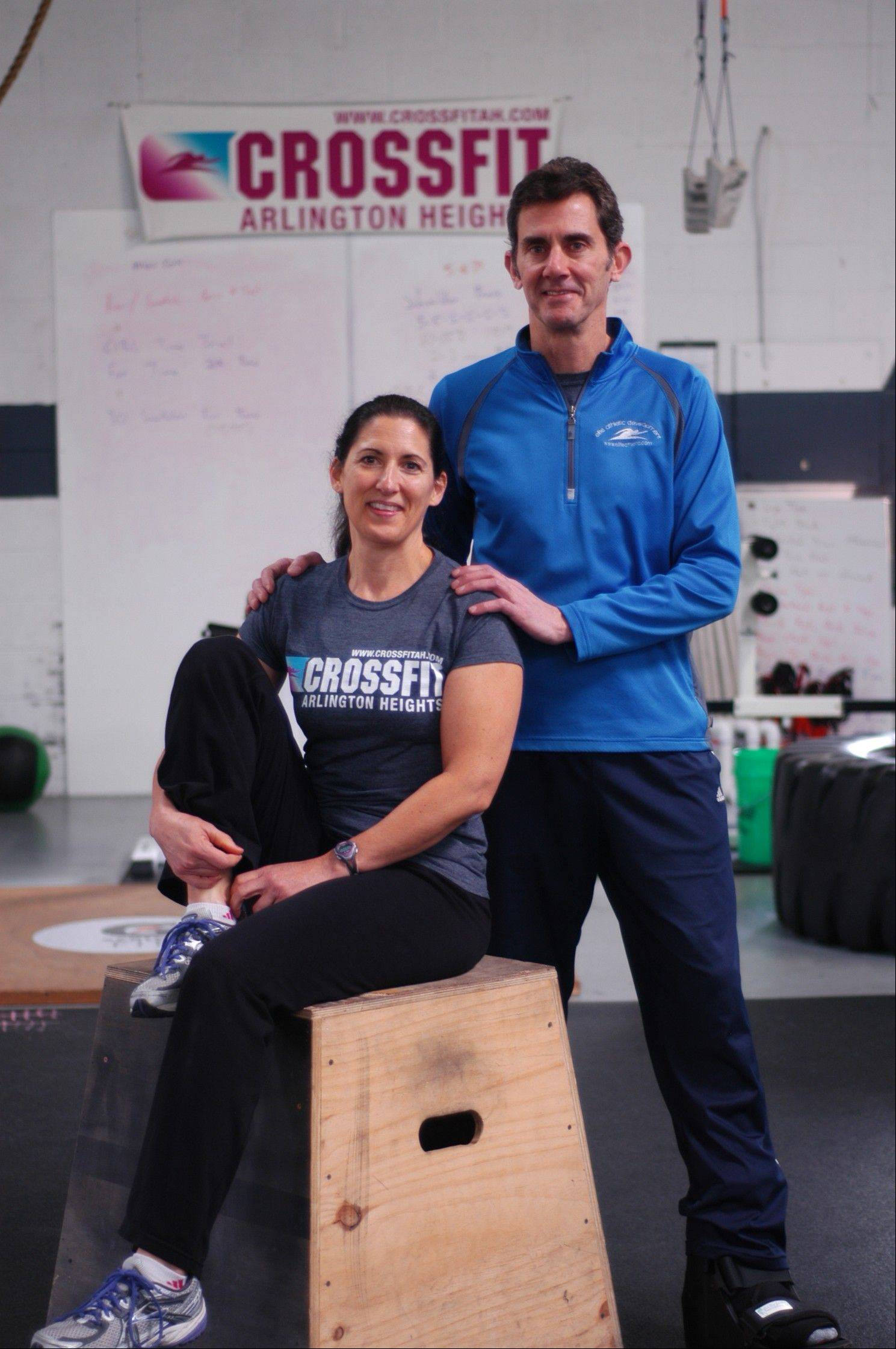 Karen Stoychoff Inman and Jim Inman own and operate Elite Athletic Development in Arlington Heights.