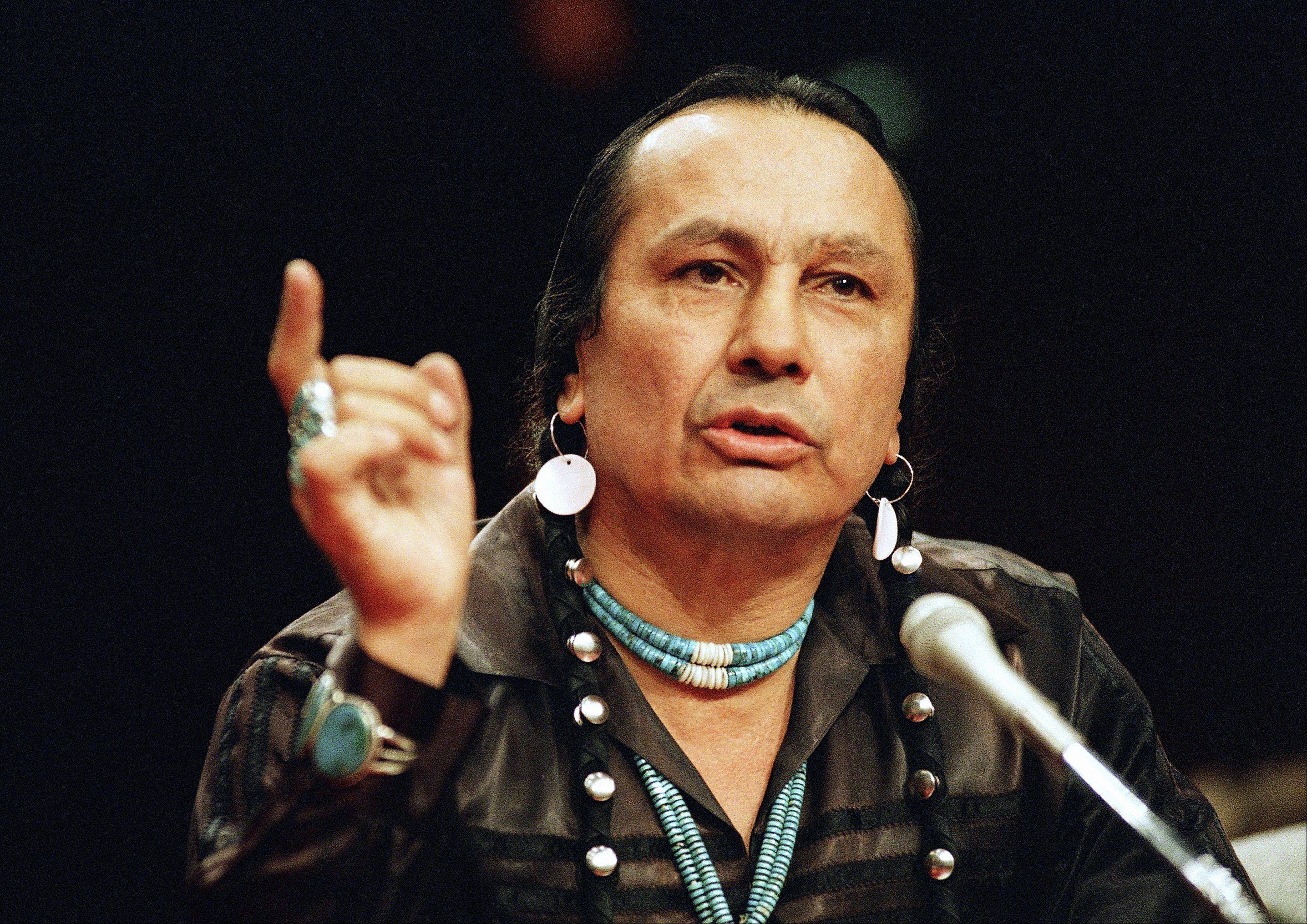 Russell Means, a former American Indian Movement activist who helped lead the 1973 uprising at Wounded Knee, reveled in stirring up attention and appeared in several Hollywood films, died early Monday at his ranch in Zzxin Porcupine, S.D. He was 72.