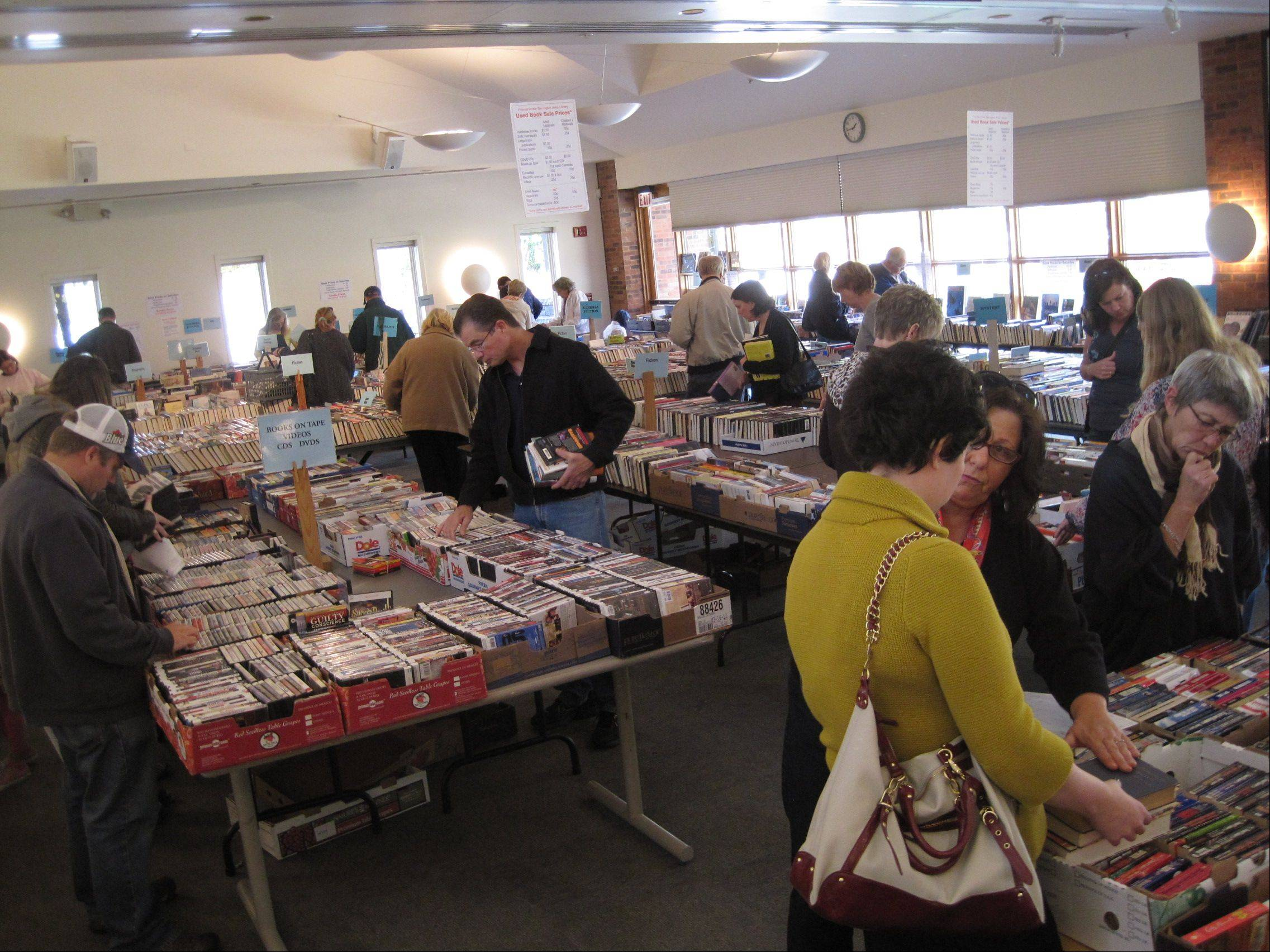 Attendance at the Friends of the Barrington Area Library book sale last weekend was down from past years, organization members said.