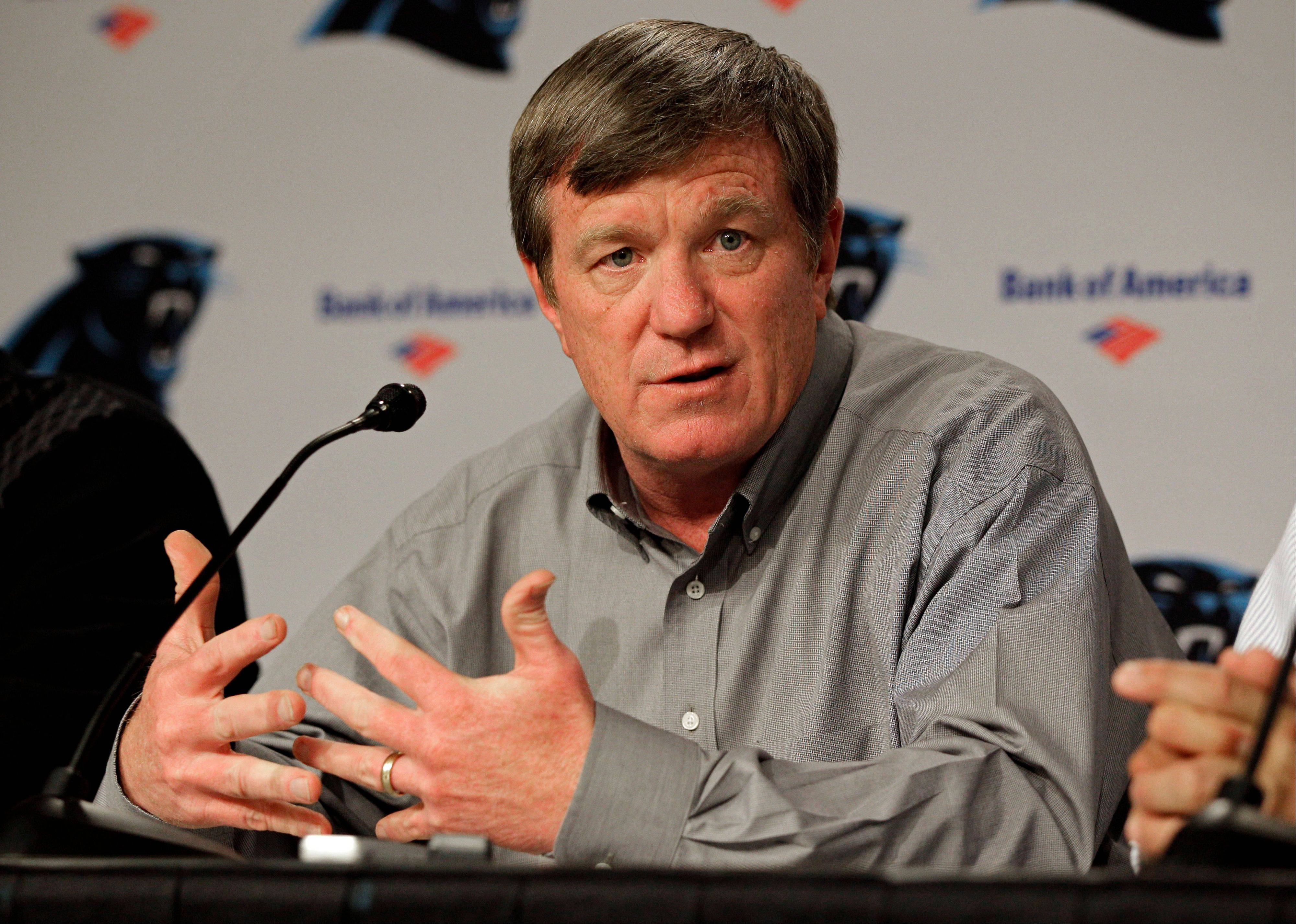 Carolina Panthers general manager Marty Hurney was fired Monday. The NFL club is 1-5 this season.