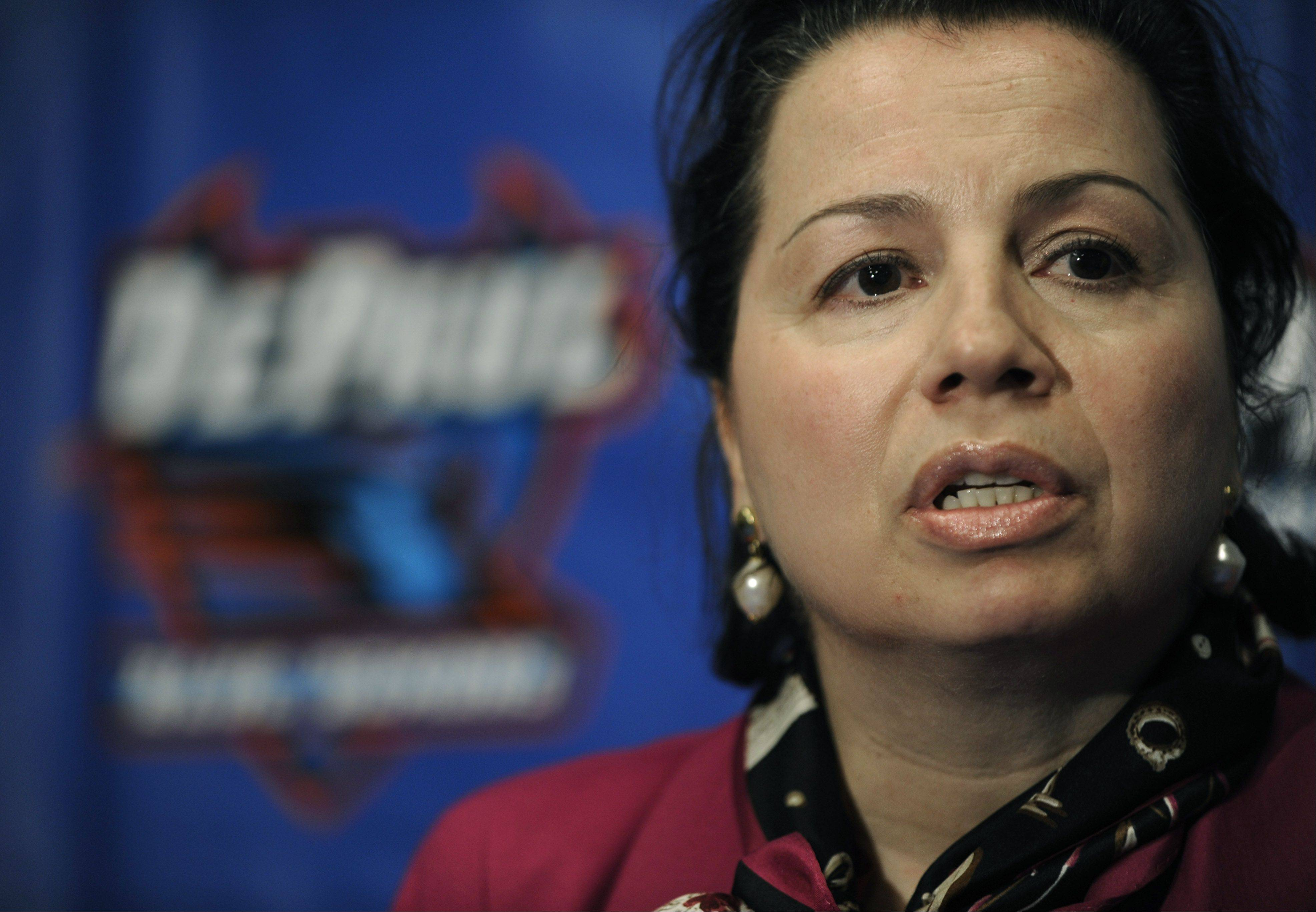 DePaul athletics director Jean Lenti Ponsetto has signed a five-year contract extension that will keep her with the university through 2017, school officials announced Tuesday.