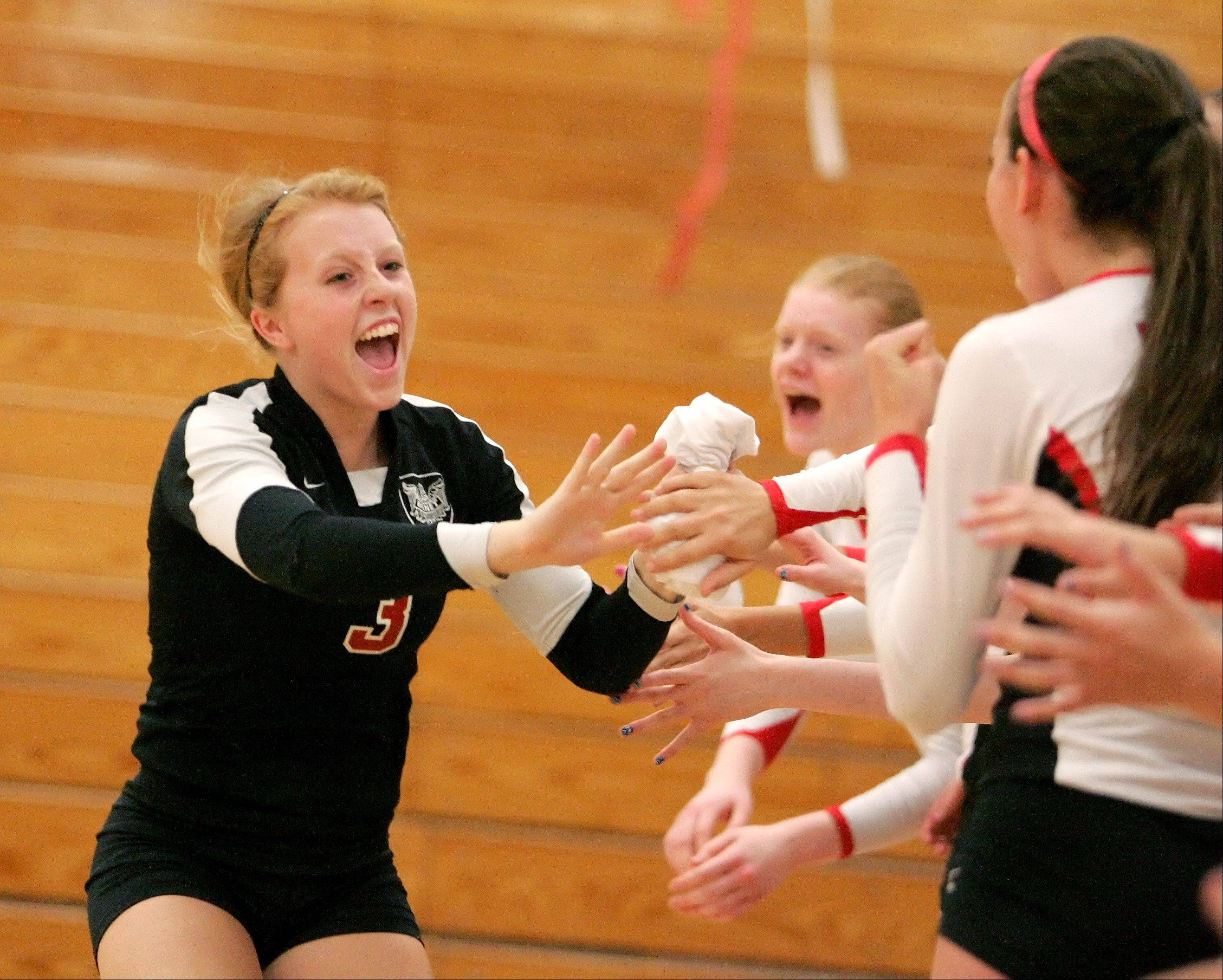 Benet Academy�s Sheila Doyle fires up her team.