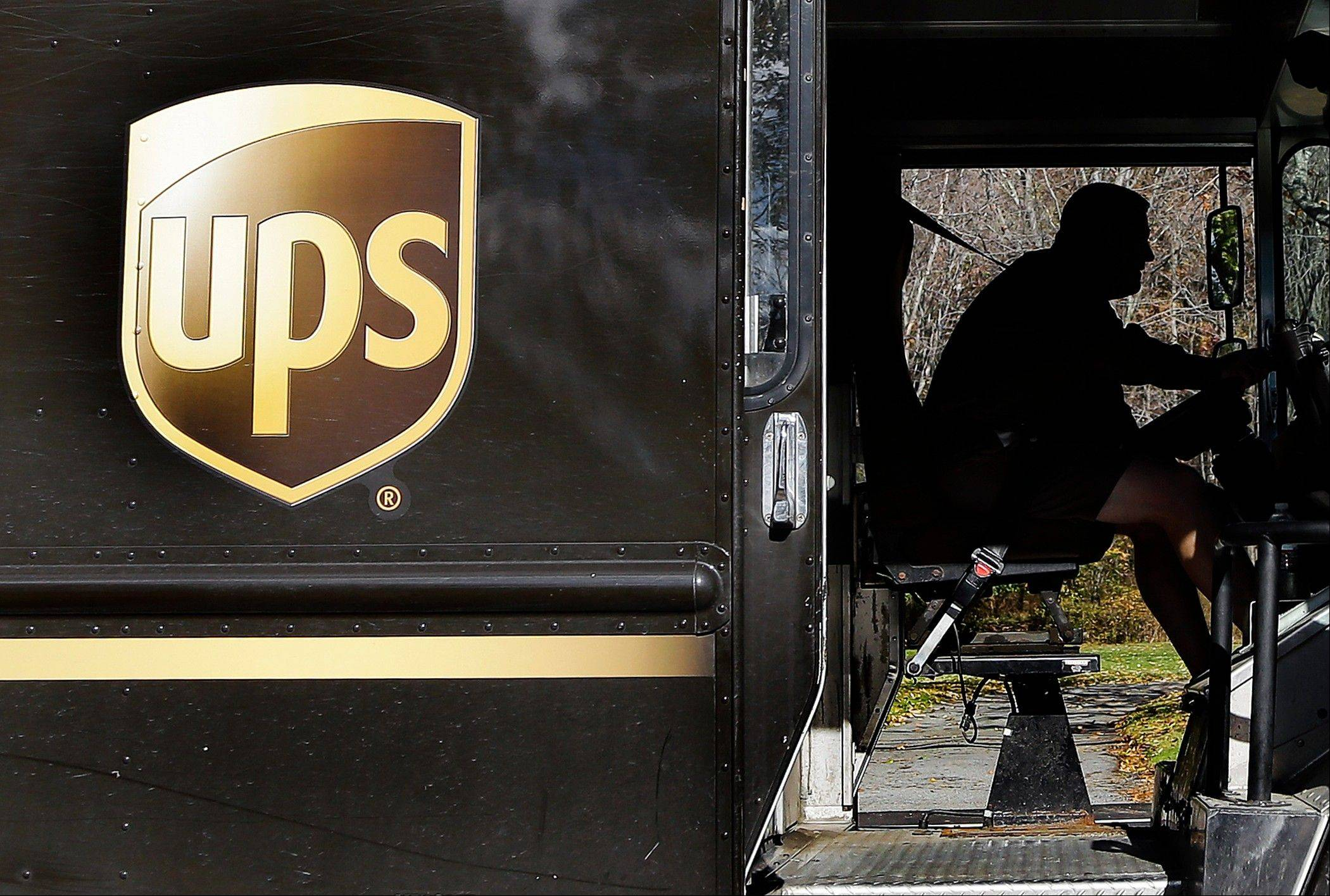 UPS said Tuesday, Oct. 23, 2012, its third-quarter earnings sank on a huge penalty to withdraw from a pension plan. Without that charge, net income fell slightly but matched expectations on Wall Street. The world's largest package delivery company is also narrowing its earnings forecast for the full year.