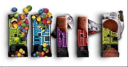 There are five flavors in the UNREAL line of un-junked chocolate treats.