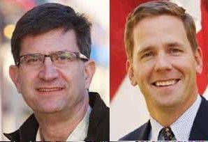 Democrat Brad Schneider, left, and Republican U.S. Rep. Robert Dold are running for Congress in the suburban 10th District.
