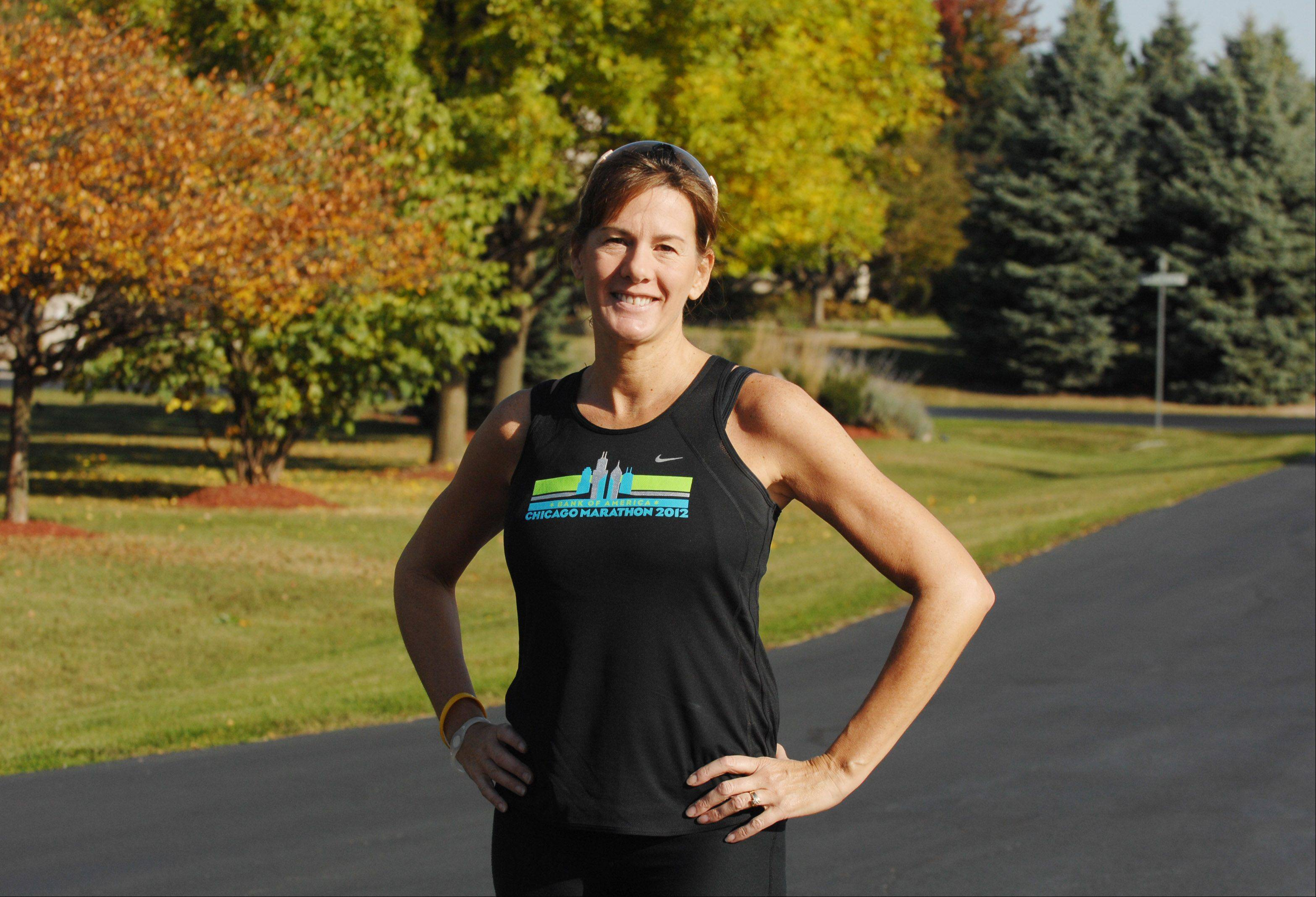 Ginna Podge of Wayne became a marathon runner after she was diagnosed with cancer 10 years ago. She will compete in the Chicago Ultra 50K Oct. 27.