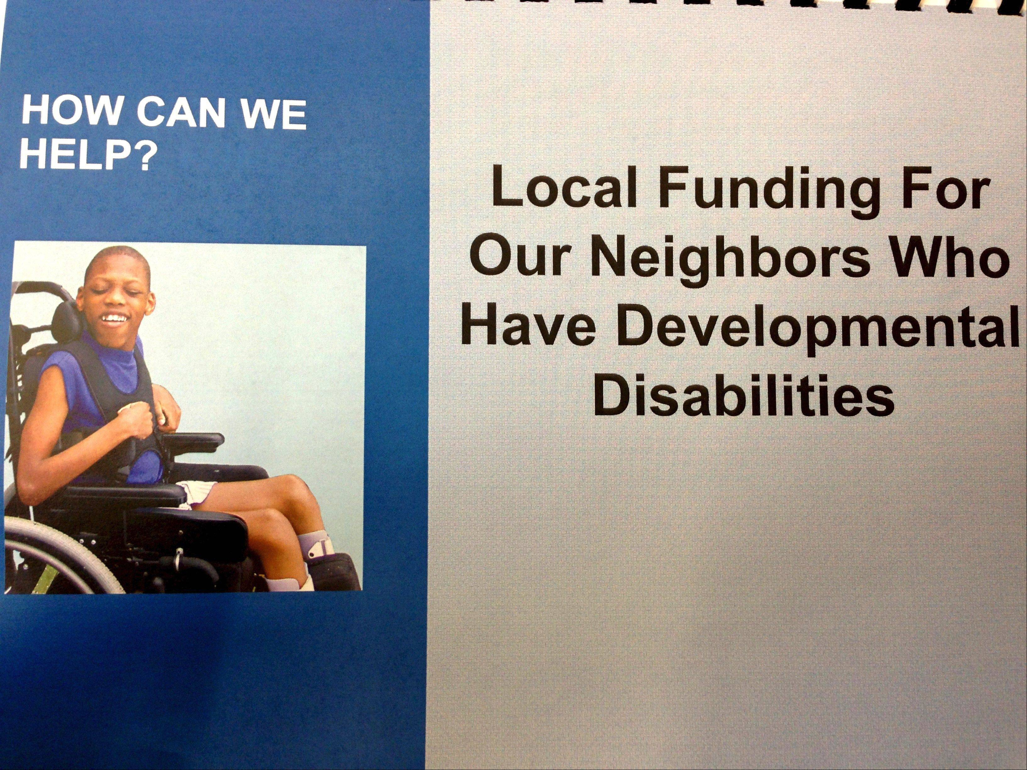 Local social service agencies pitched a preliminary plan to create a new property tax throughout Kane County to help disabled residents. Kane County voters would have to approve the levy through a referendum vote, most likely this spring.