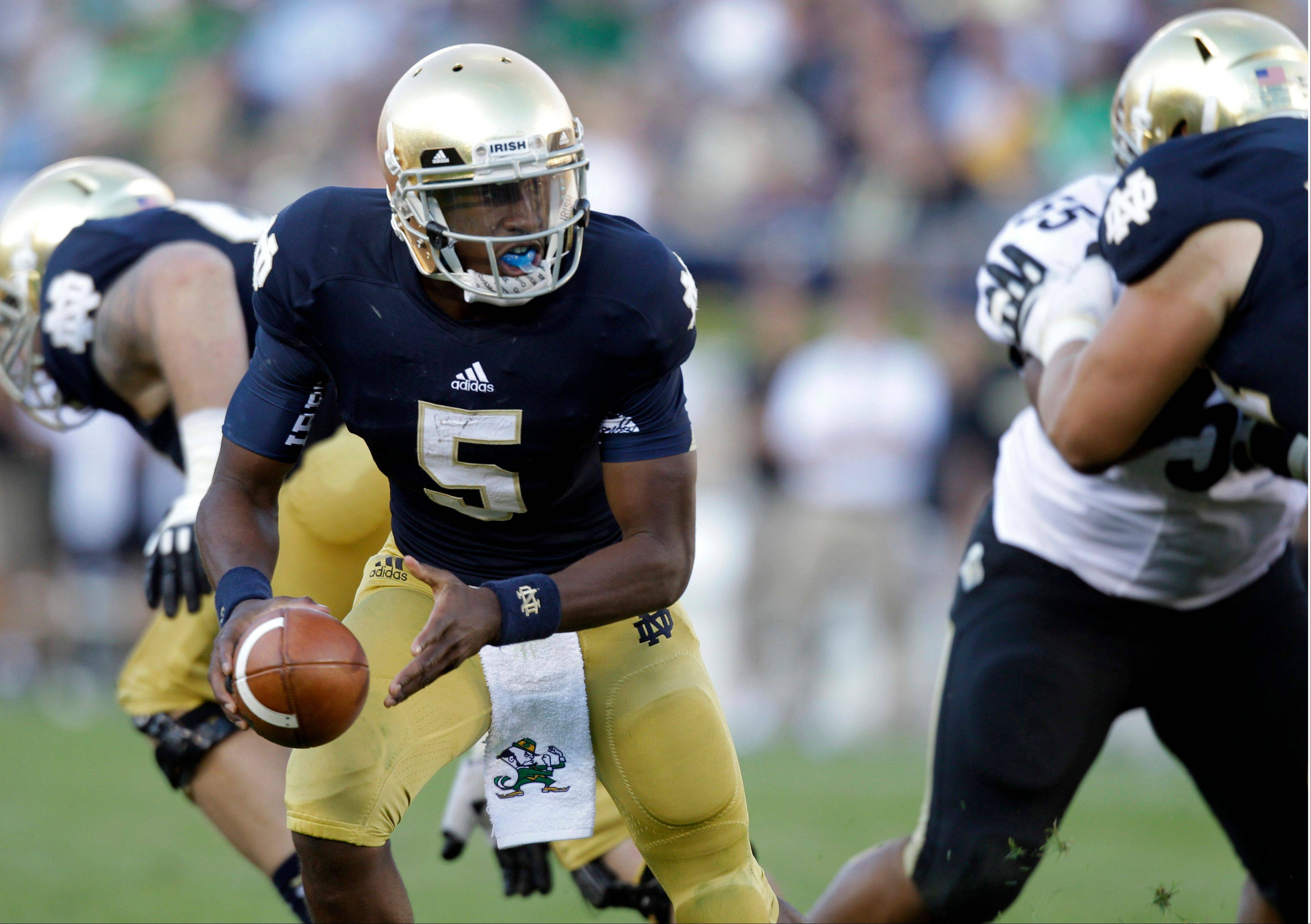 Notre Dame quarterback Everett Golson will start against Oklahoma Saturday, Irish coach Brian Kelly said. Golson missed last week's game against BYU with a concussion.