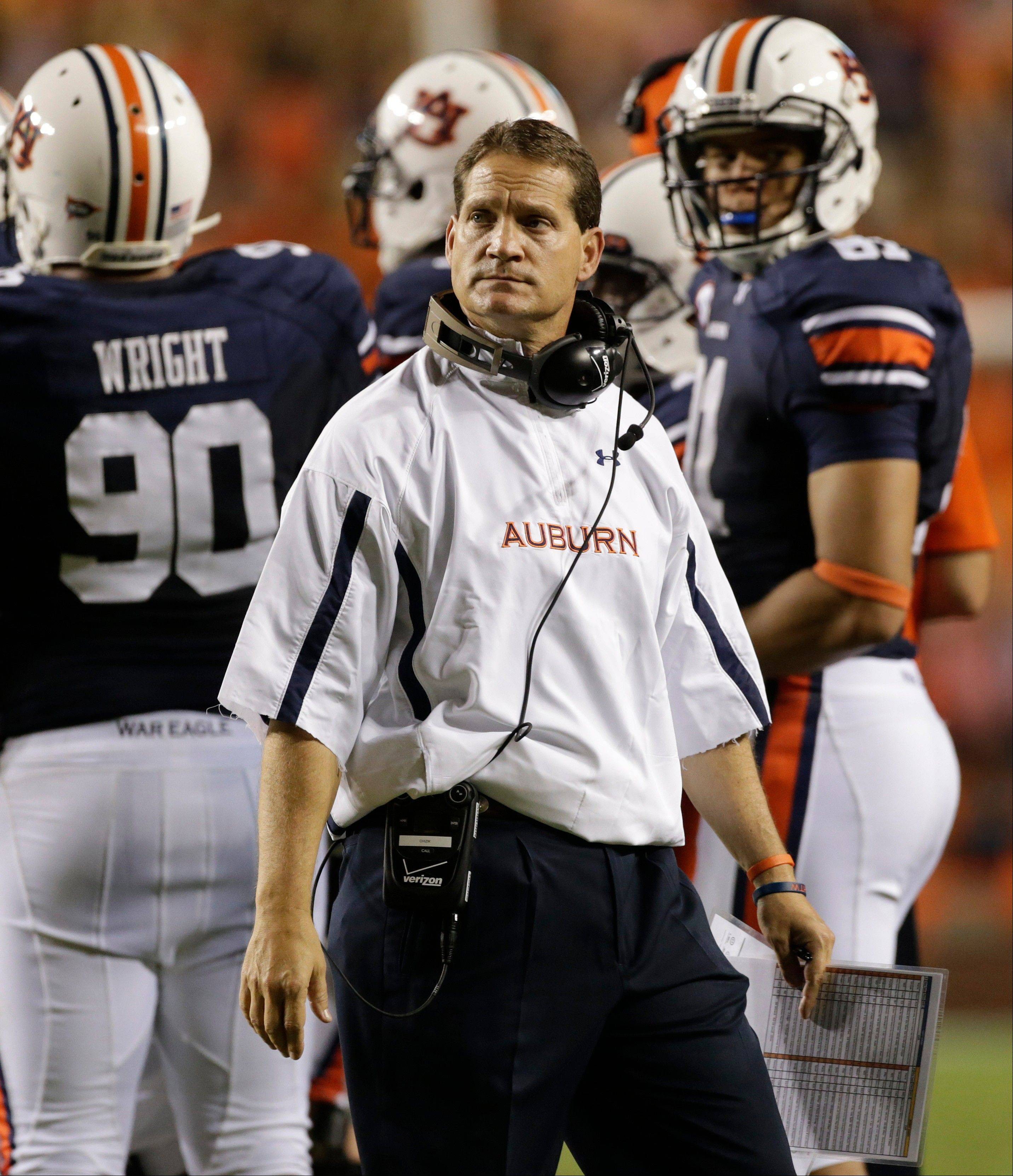 Auburn coach Gene Chizik won a national championship two years ago, but his future in in doubt with his team now 1-6 this season.