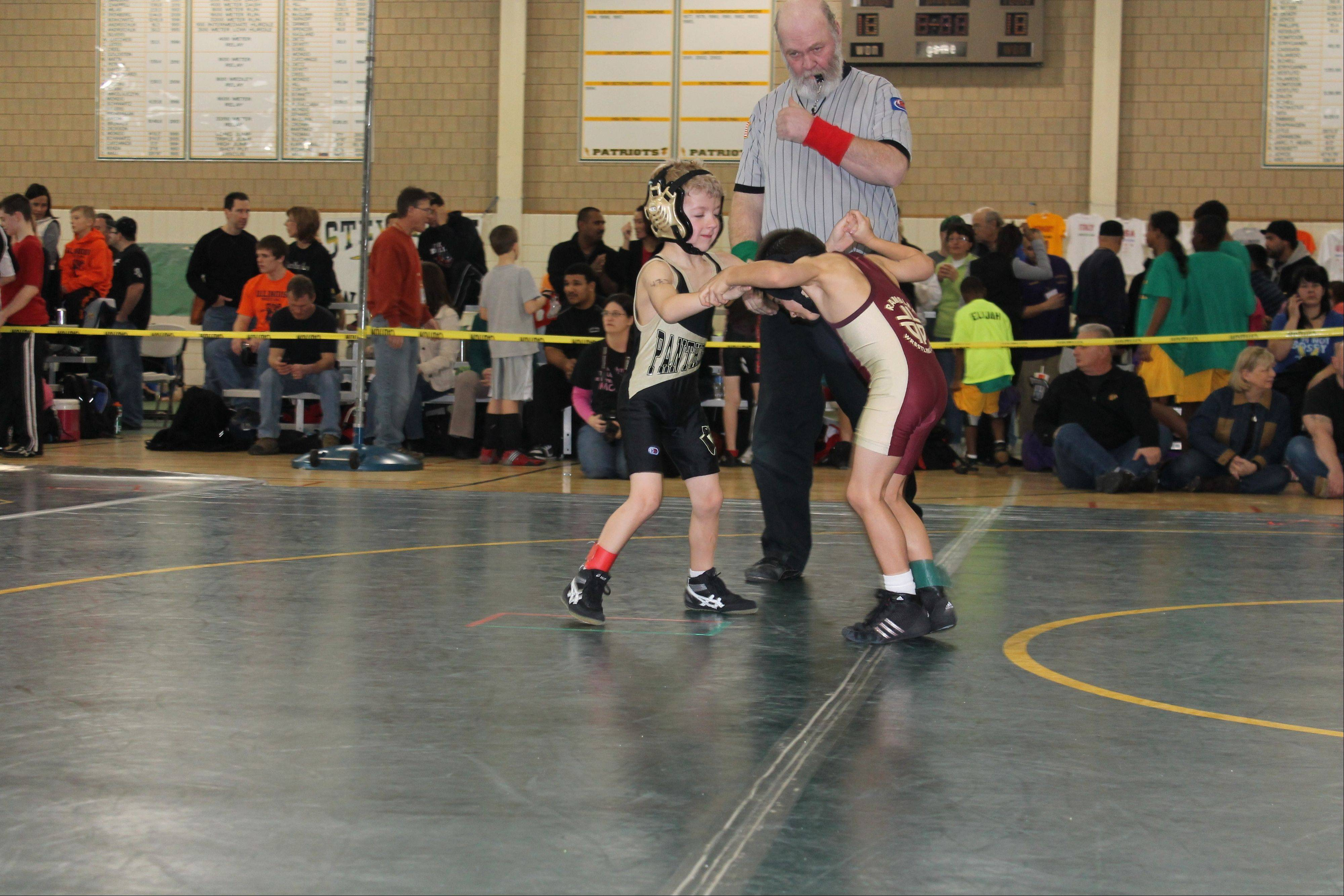 Ryan Burton participates in the 2011-2012 season of the Palatine Park District's Panthers Wrestling program. The program, which provides children the opportunity to learn more about the popular sport, is now accepting registration for the 2012-2013 season.