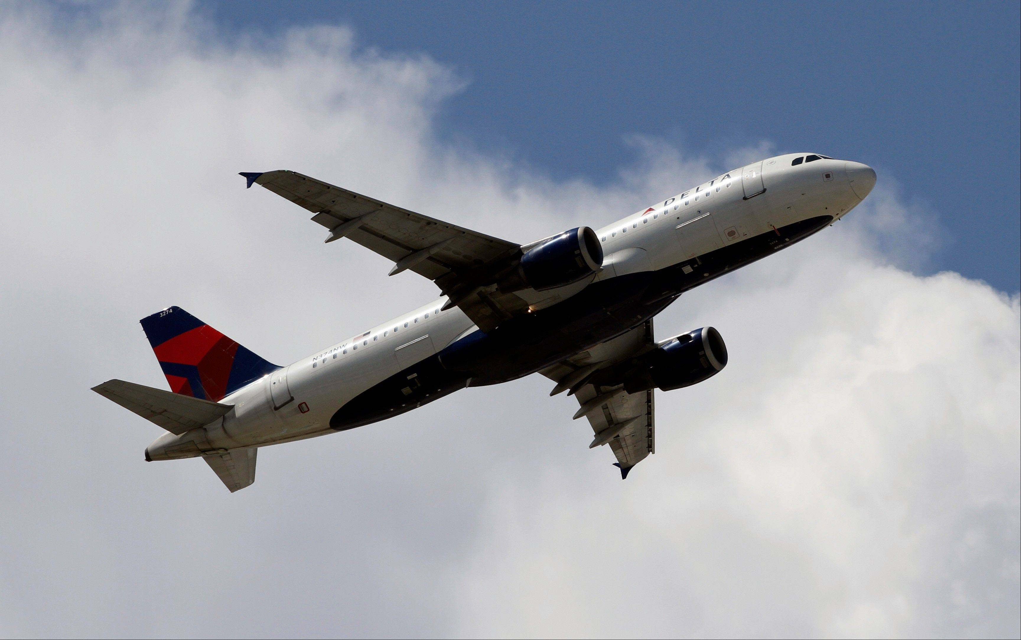 Delta Air Lines said Wednesday, Oct. 24, 2012, that its third-quarter profit nearly doubled mostly due to the increasing value of its fuel contracts.