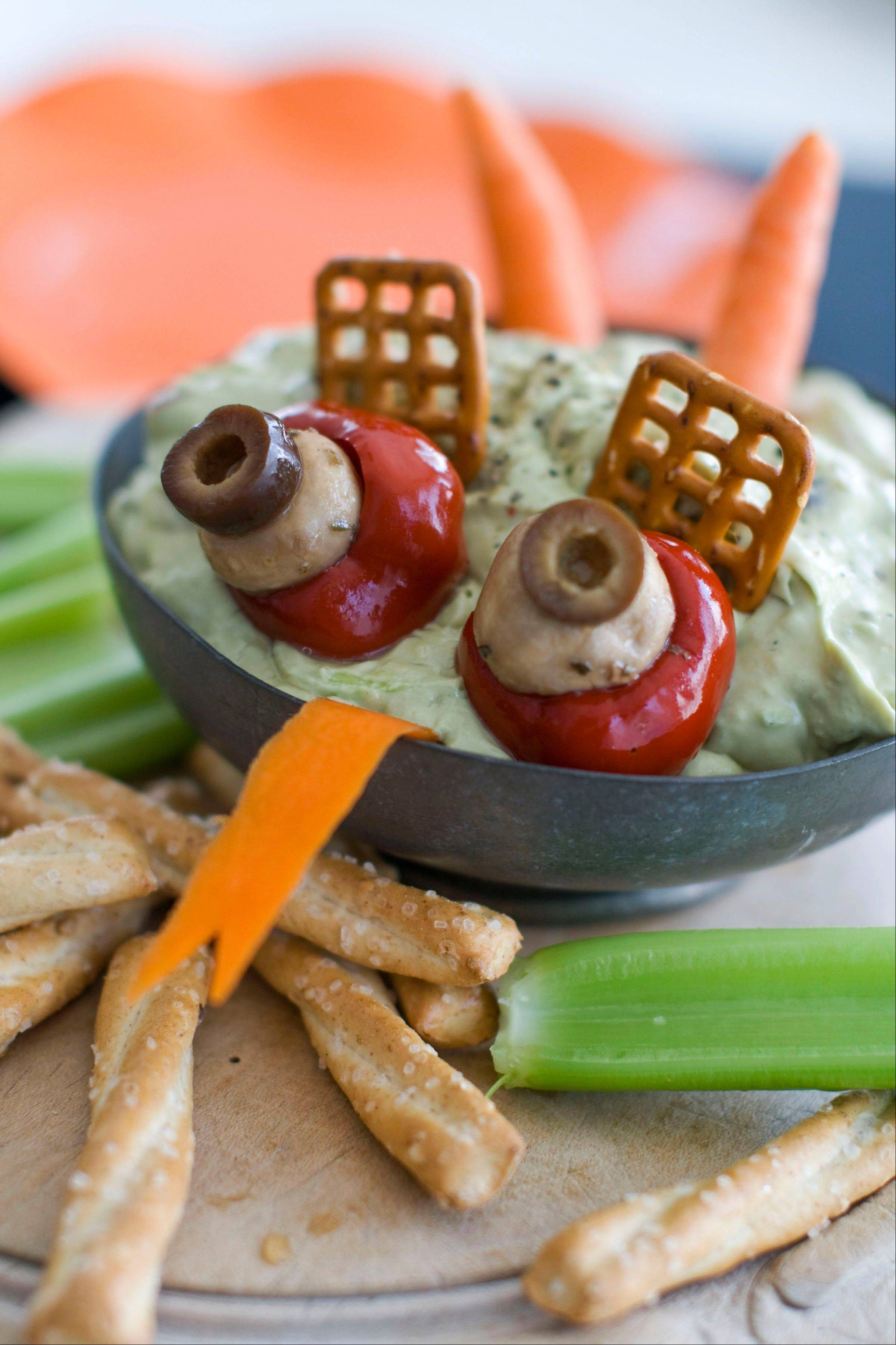 Halloween food, like this Creamy Swamp Dip, doesn�t have to look pretty but should still be tasty.