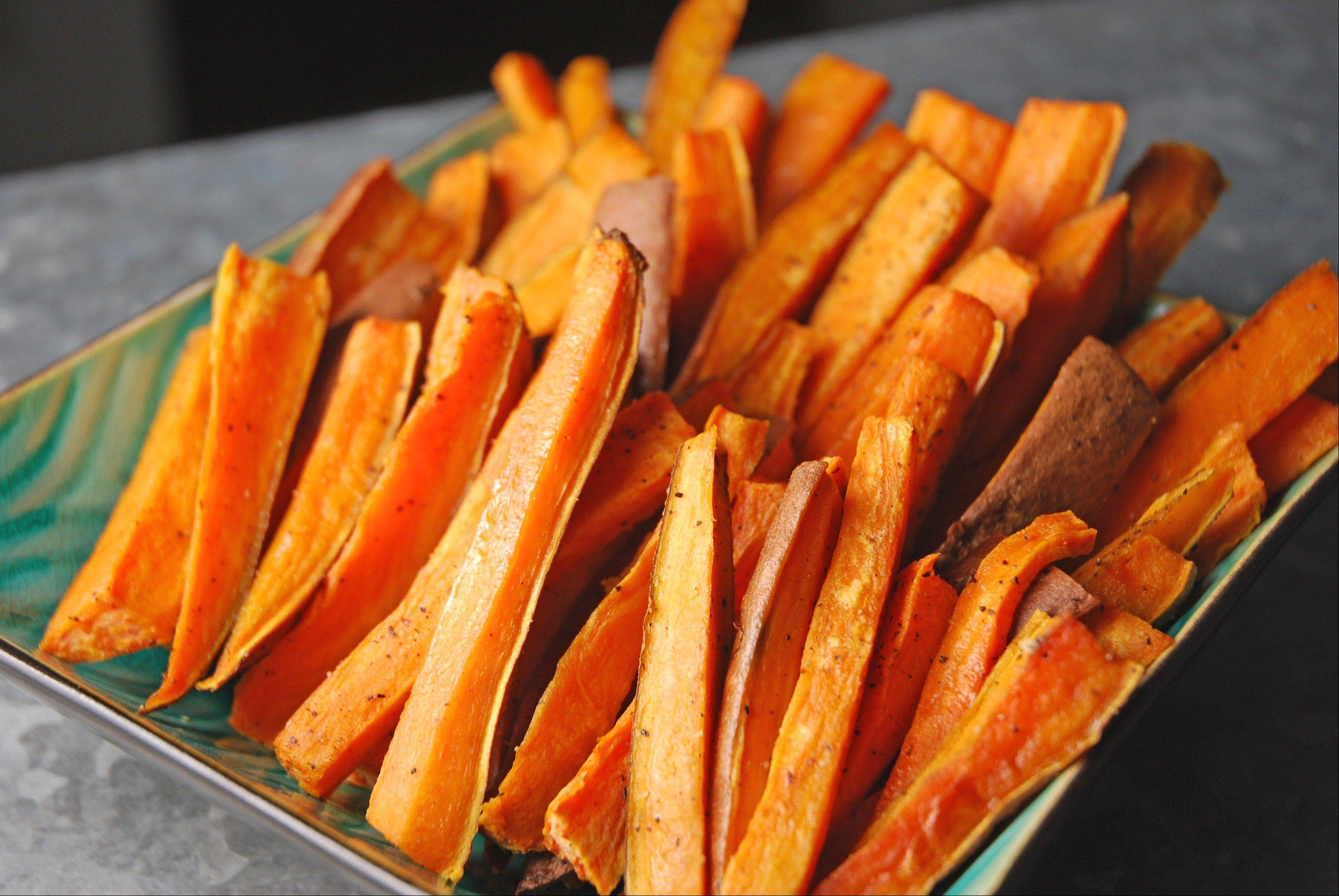 "Baked Sweet Potato ""Fries"" are so simple and delicious you'll never believe they're good for you, too."