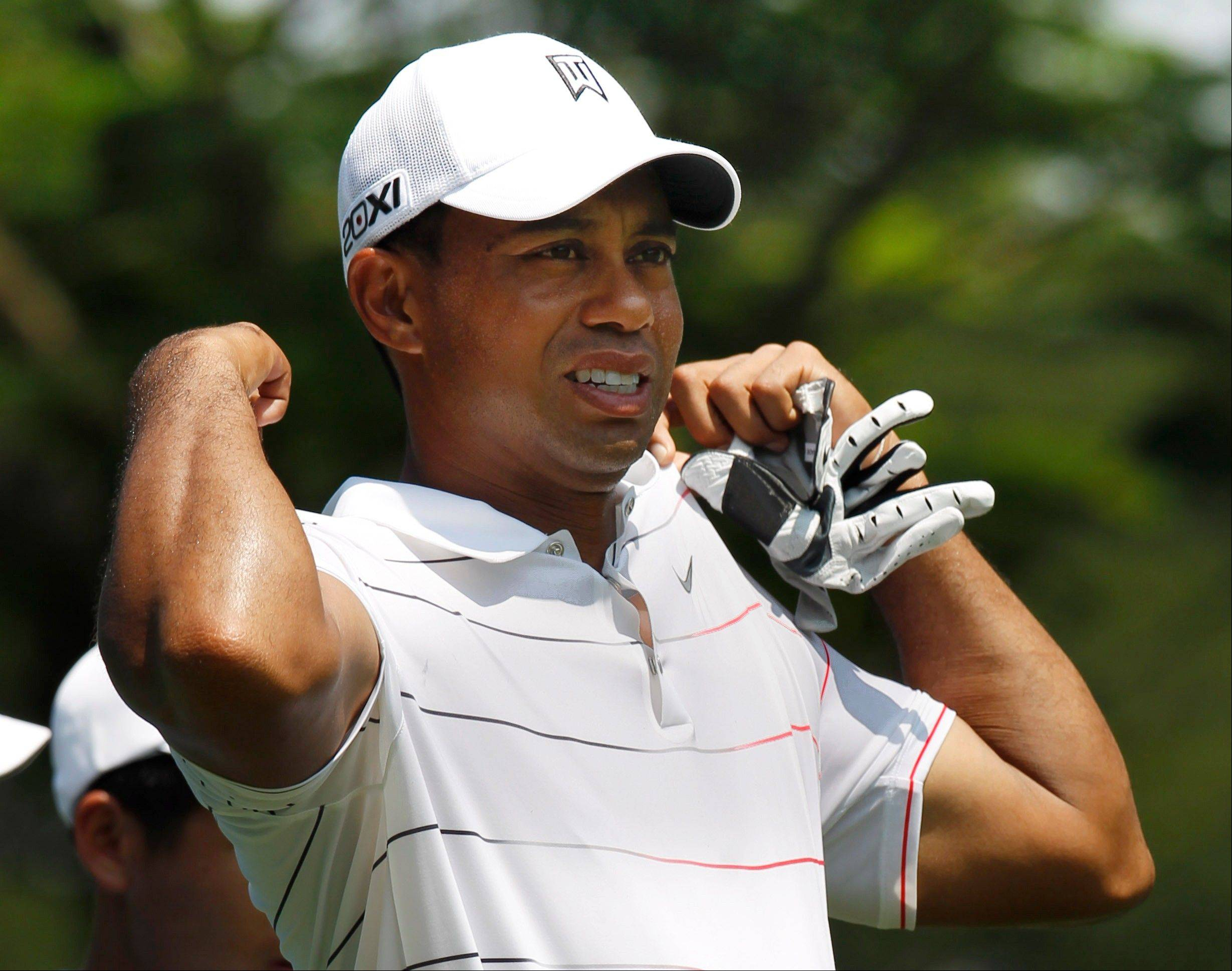 Tiger Woods Wednesday during the pro-am for the CIMB Classic golf tournament at the Mines Resort and Golf Club in Kuala Lumpur, Malaysia.