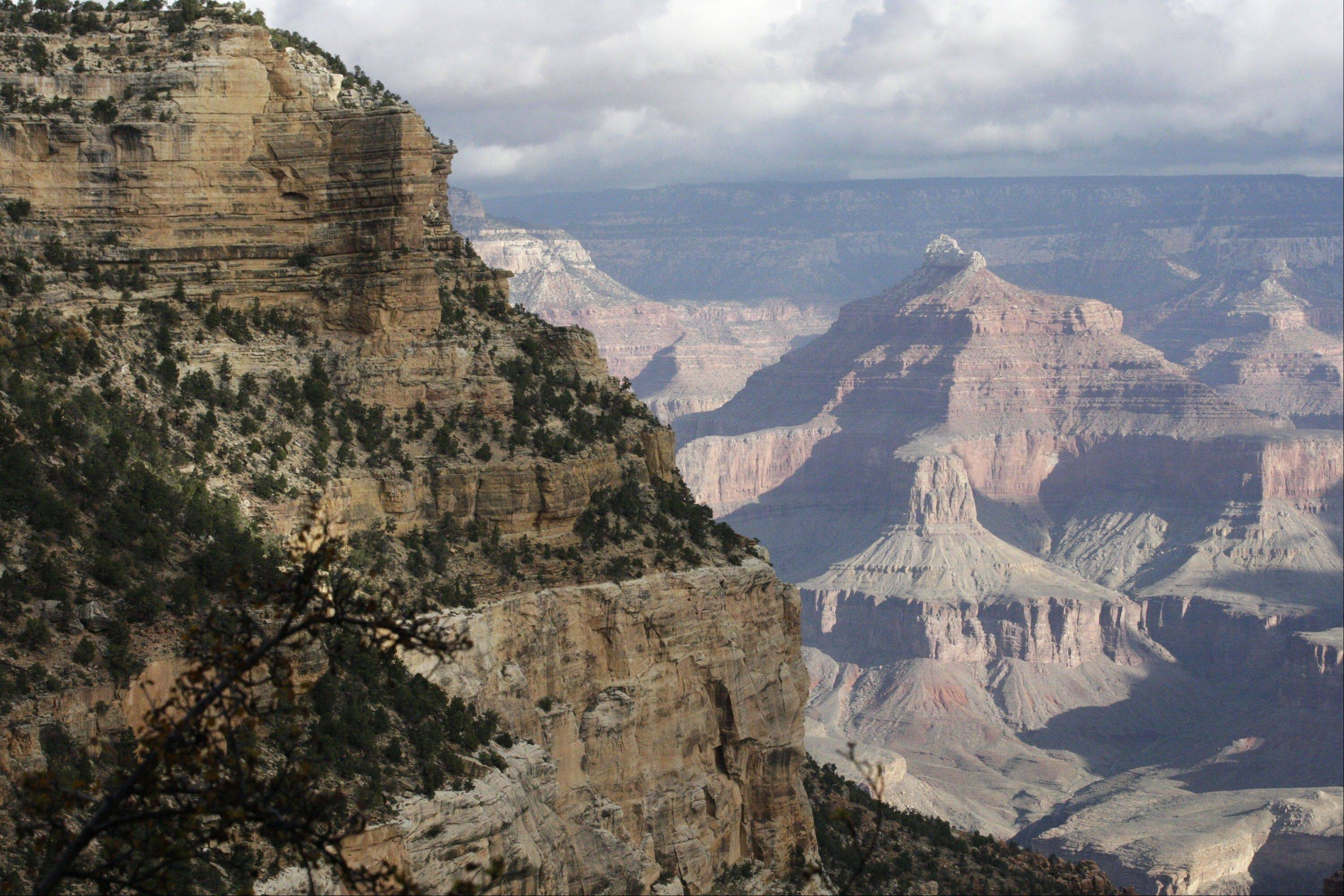 A view from the South Rim of the Grand Canyon National Park in Arizona.