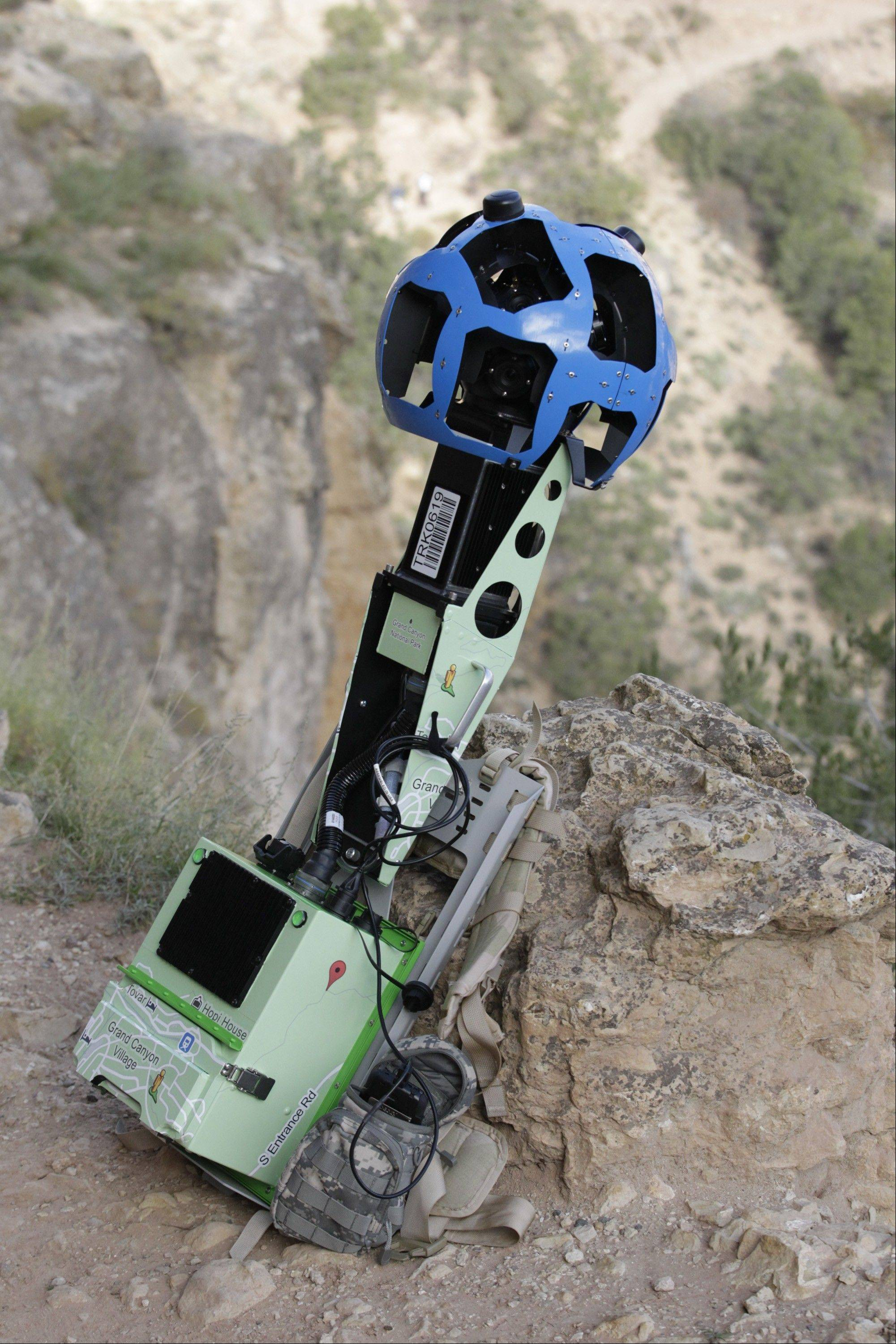 Google is using the Trekker, a nearly 40-pound, backpack-sized camera unit to showcase the Grand Canyon's most popular hiking trails on the South Rim and other off-road sites.
