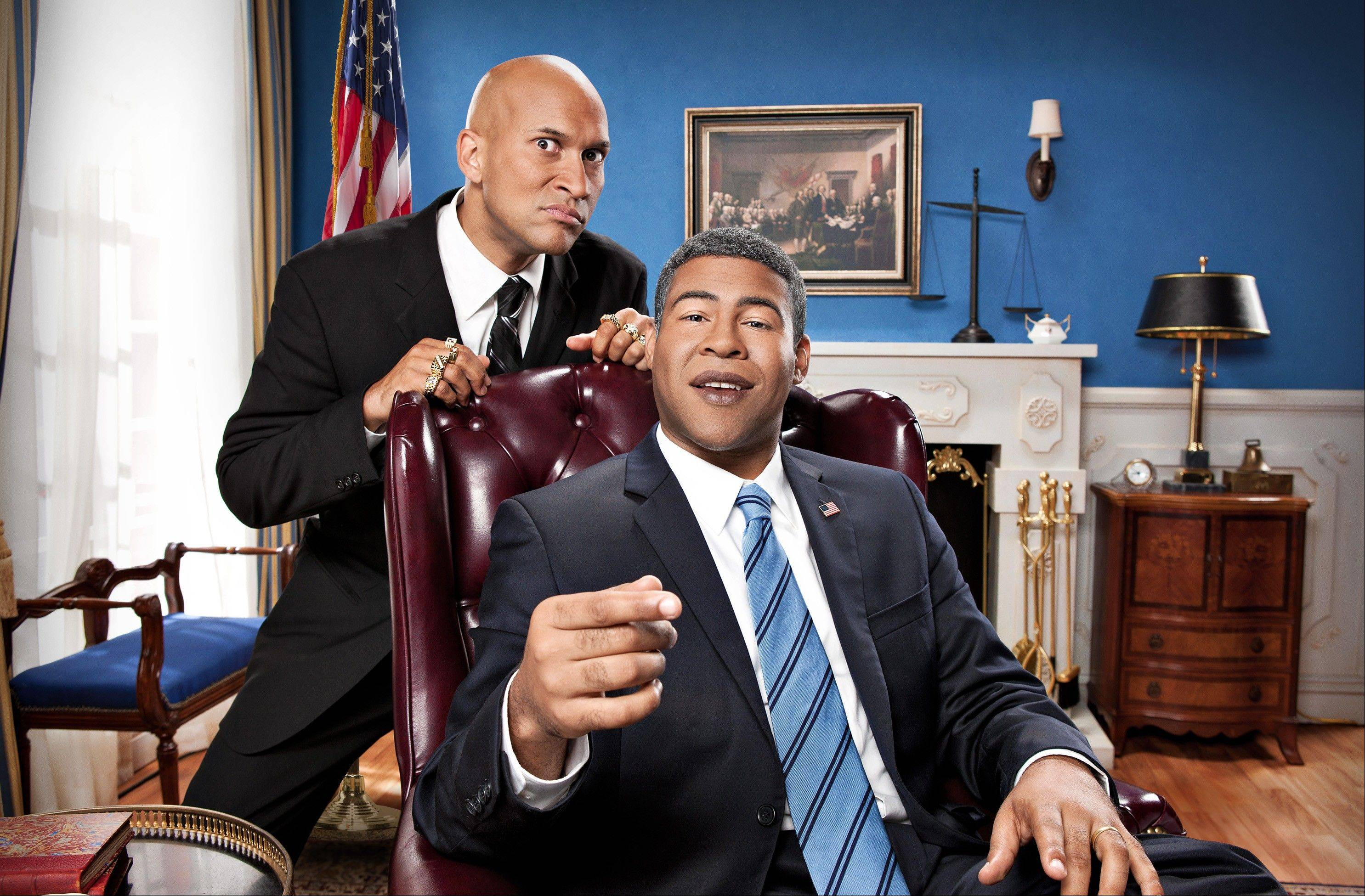 "As guys who both lay claim to biracial status, Keegan-Michael Key, left, and Jordan Peele share a state of informed in-betweenness that gives their sketch comedy series ""Key & Peele"" extraordinary insight."