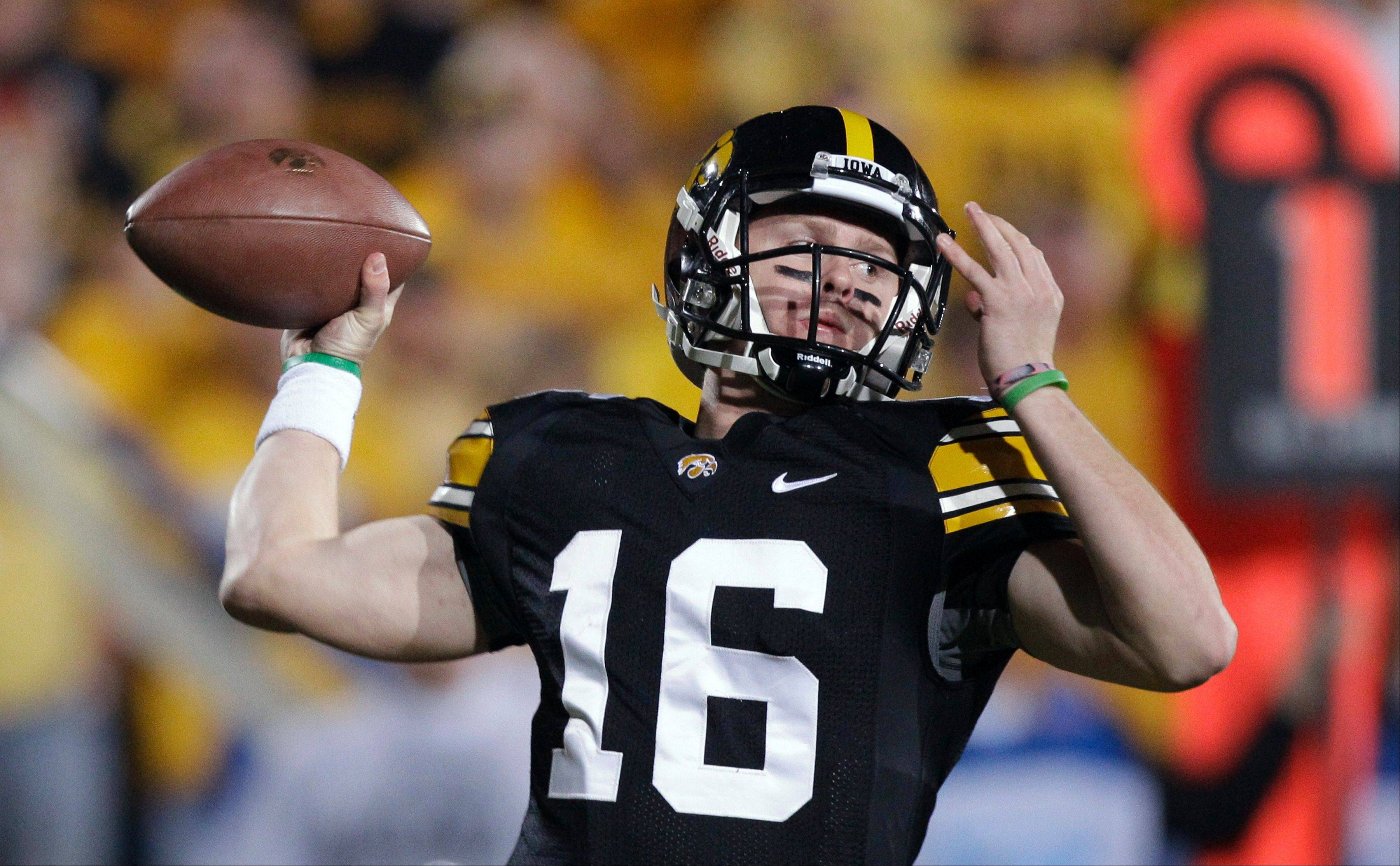 Last season Iowa quarterback James Vandenberg led the Hawkeyes to a 41-31 win over Northwestern in Iowa City. Vandenberg, who has struggled and thrown only 3 TD passes this season, will start against the Wildcats this Saturday in Evanston.