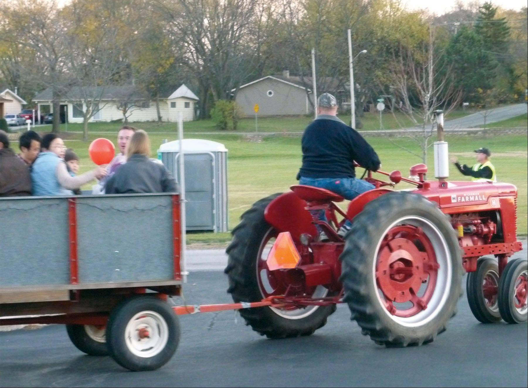 Tractor-pulled wagon rides are part of the fun at Boo Bash Oct. 27 at Keith Mione Community Park in Mundelein.