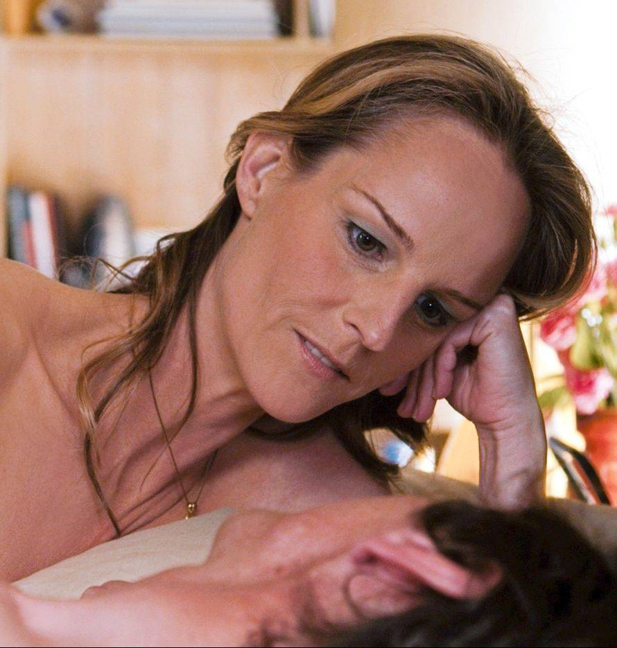 "Cheryl (Helen Hunt) brings her services as a sex surrogate to a polio victim (John Hawkes) on an iron lung in the fact-based drama ""The Sessions."""
