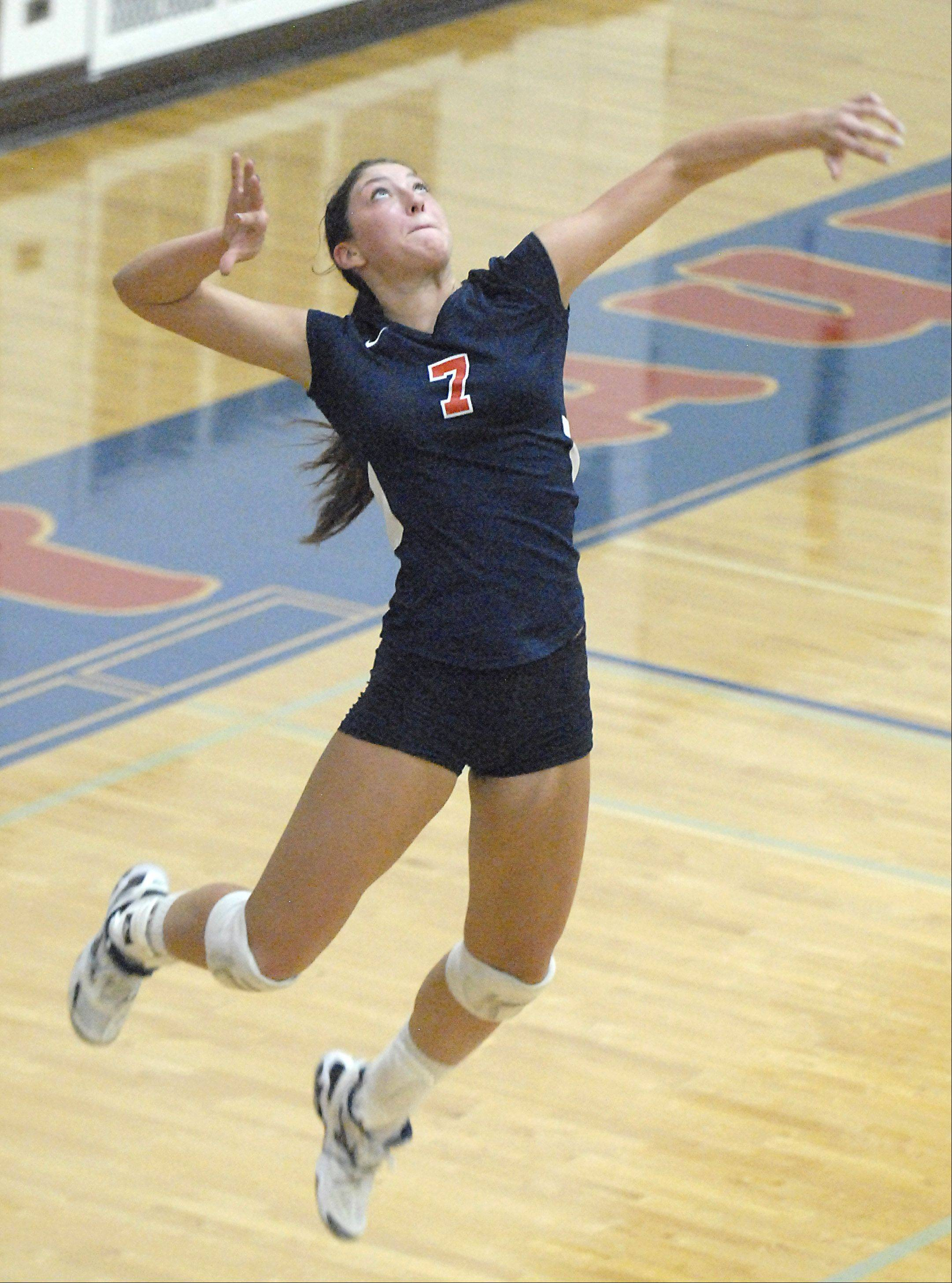 Lauren Carlini served 86 aces in 35 regular-season matches.