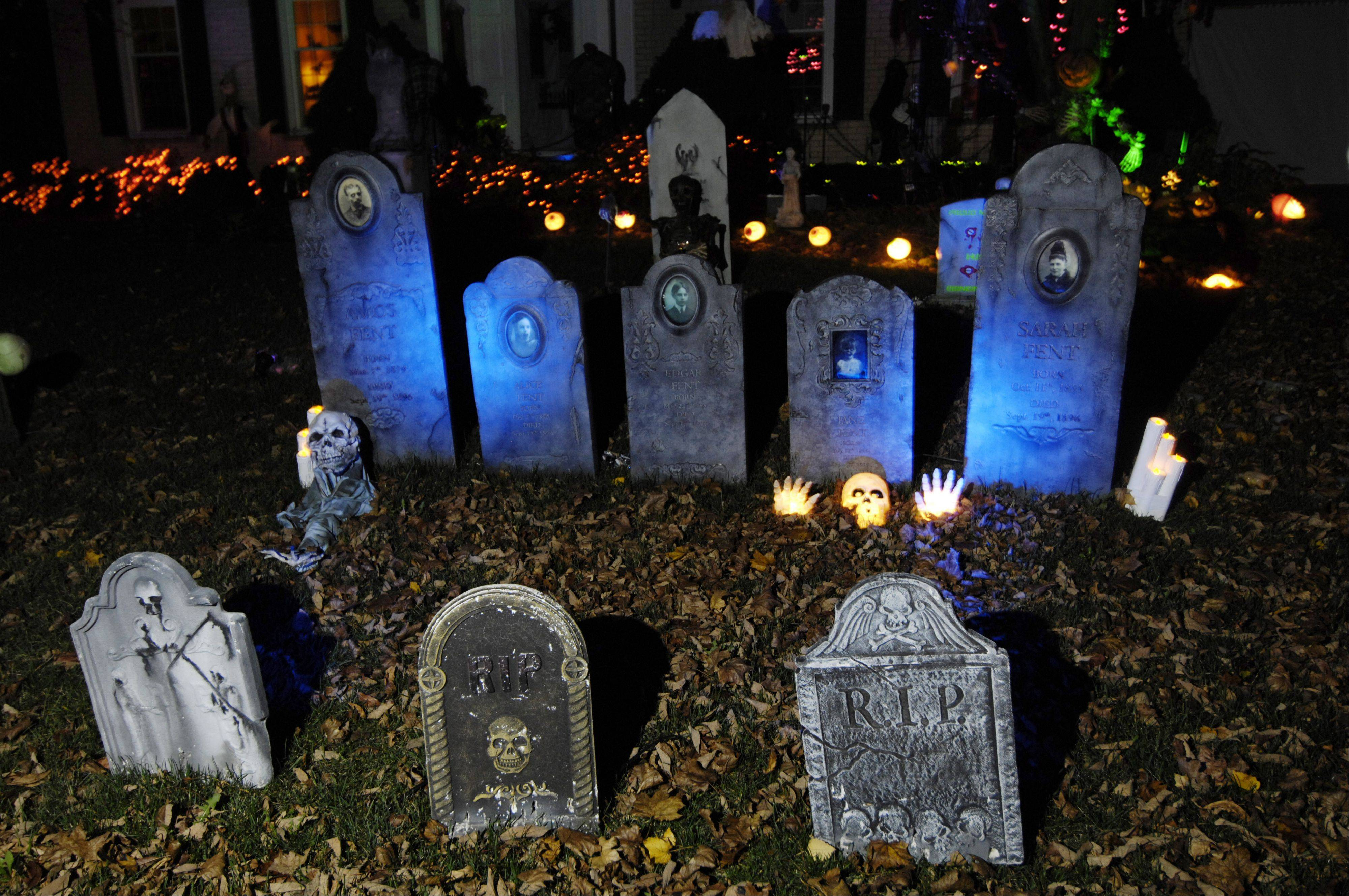 Michael Kravchuk goes all-out decorating his home in Rolling Meadows for Halloween.