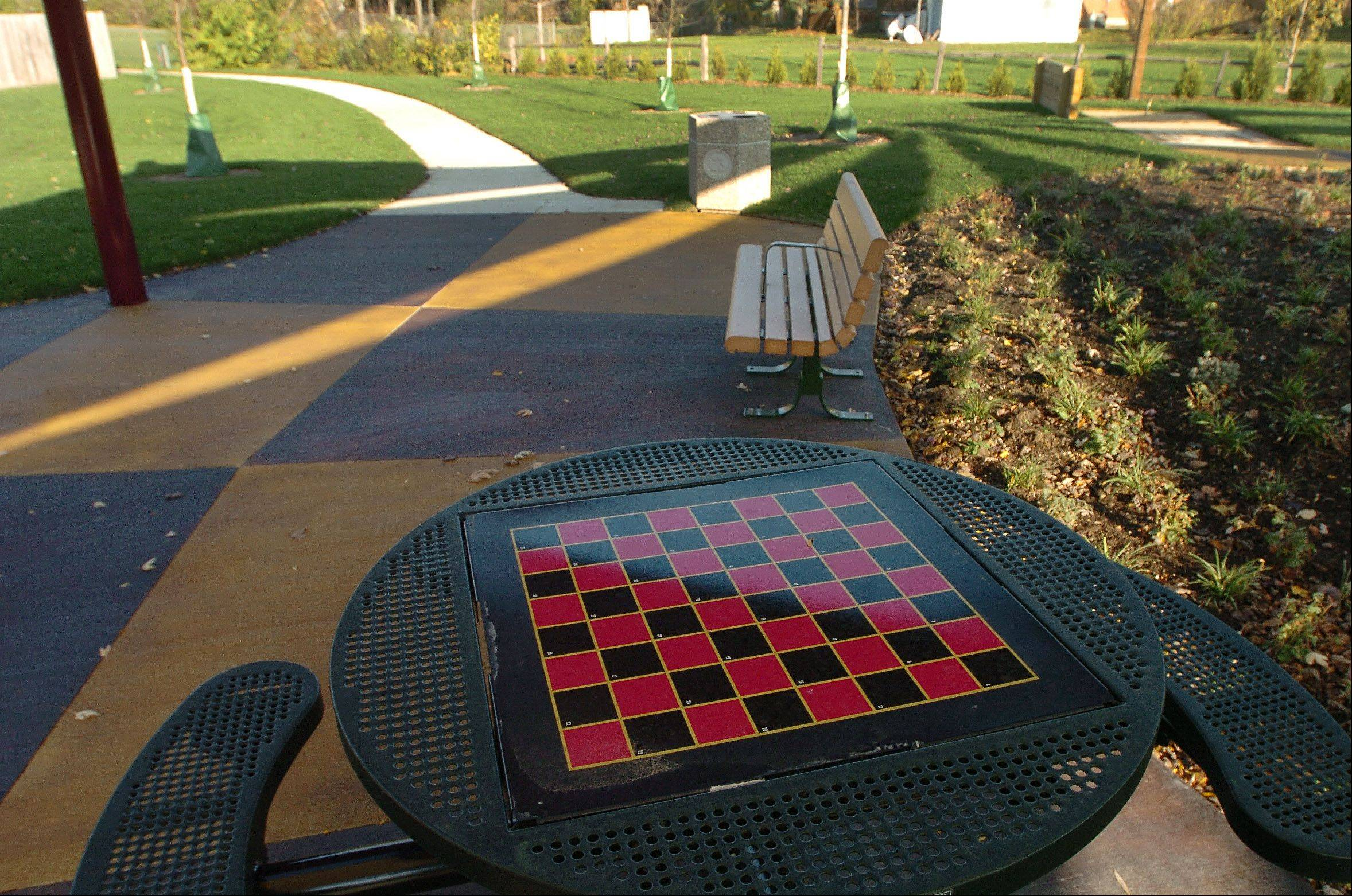 This is the new chess table at Tropicana Park in Hoffman Estates.