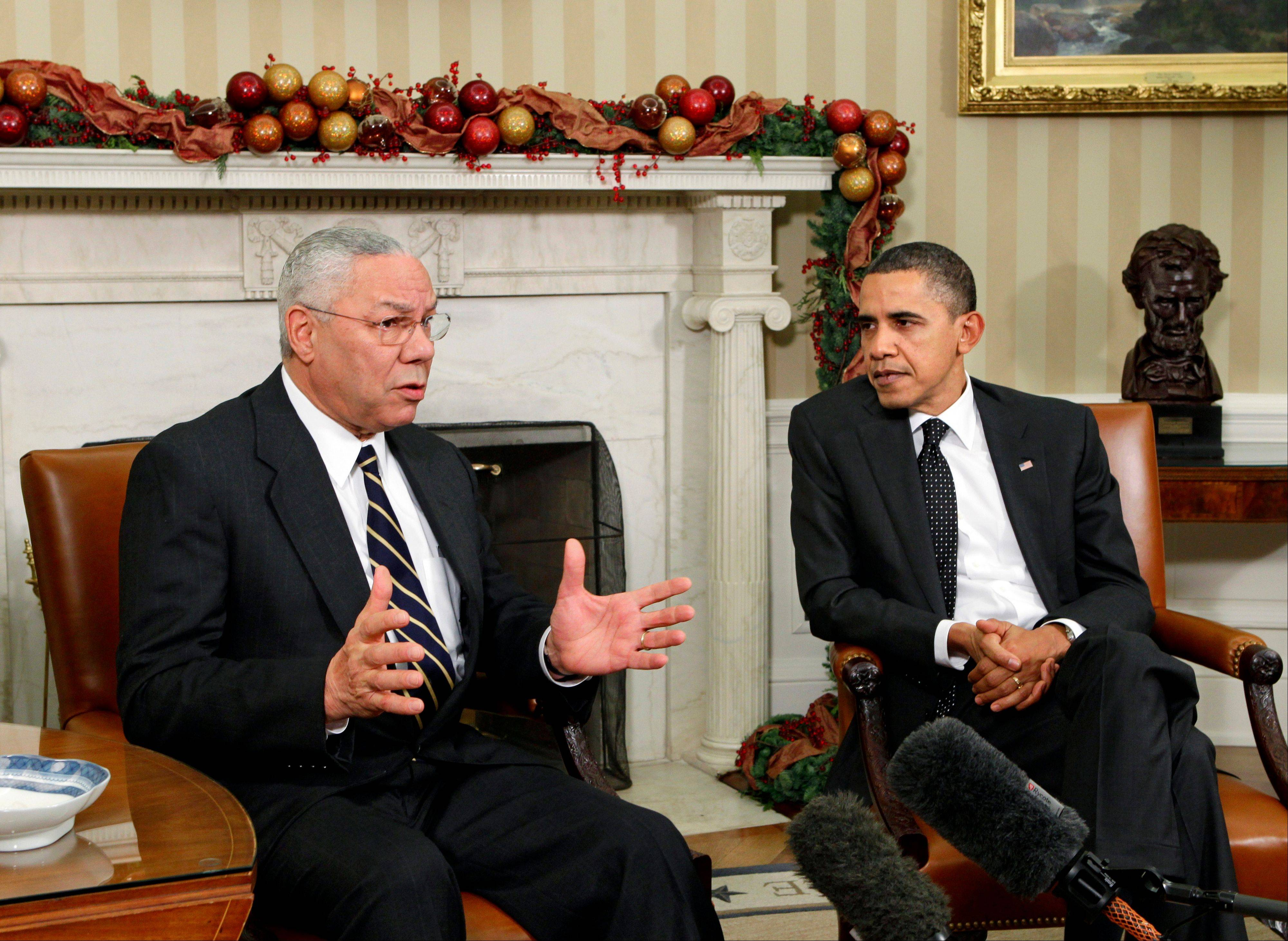 "Former Secretary of State Colin Powell, a longtime Republican said on the ""CBS This Morning"" program Thursday, he is sticking with President Barack Obama in this year's election."