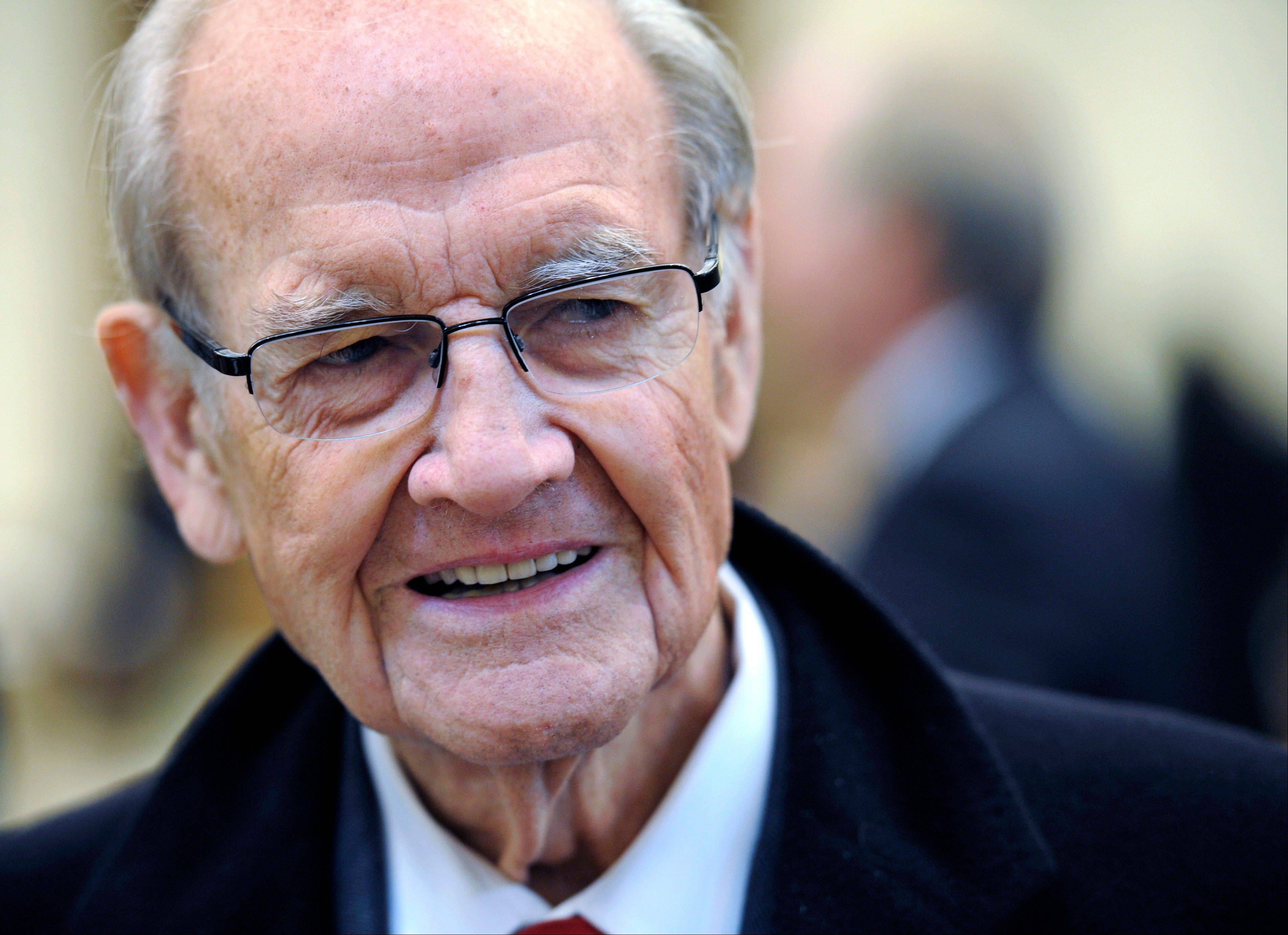 Sioux Falls, S.D. is welcoming political figures, family and friends in town Thursday to mark the life and career of former Democratic U.S. senator and three-time presidential candidate George McGovern, a legend in state's political history who died Oct. 21 at age 90.