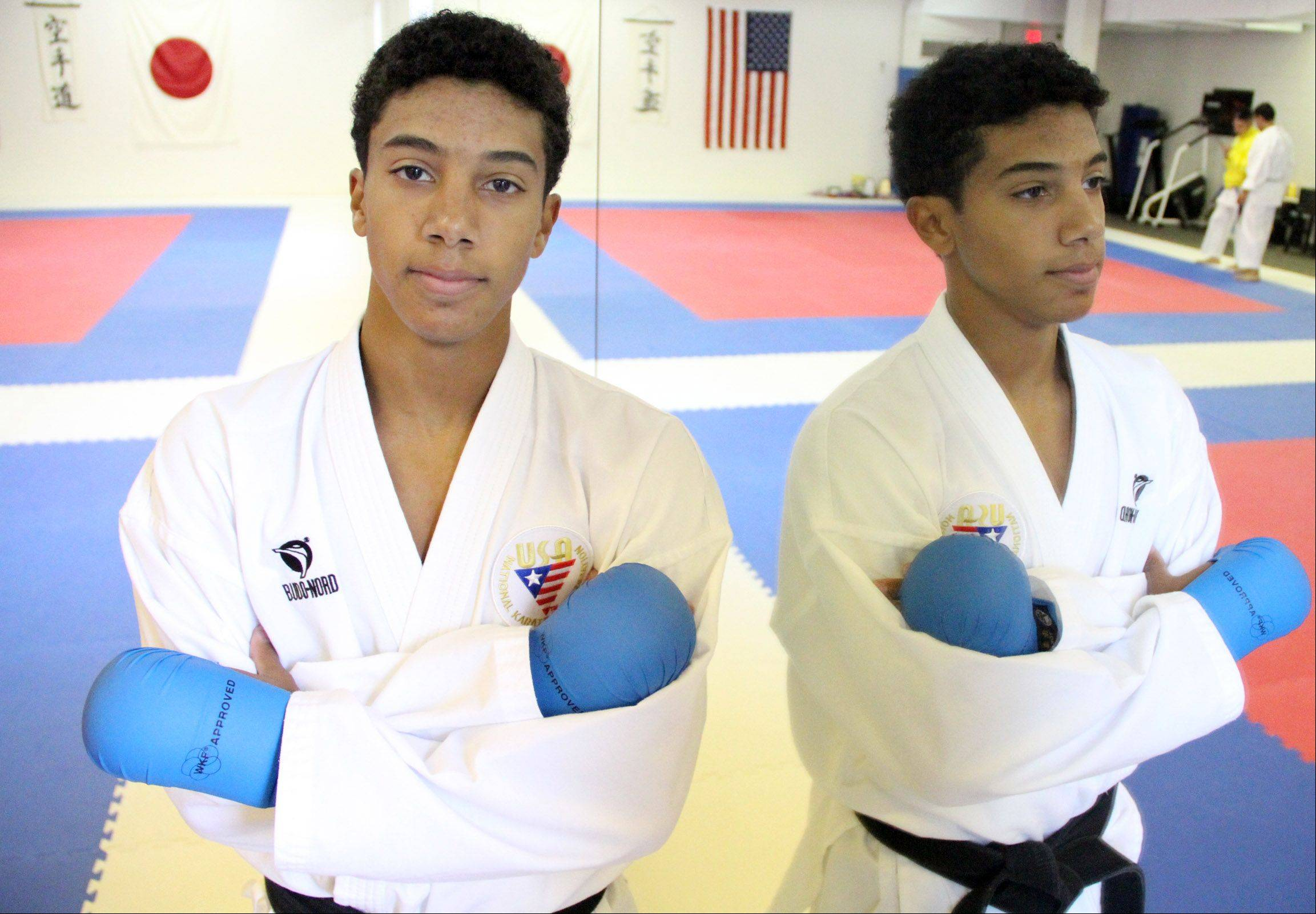 Brandon Malone trains at the Illinois Shotokan Karate Clubs dojo in Palatine. The five-time national team member hopes to represent the United States in the 2020 Olympics.