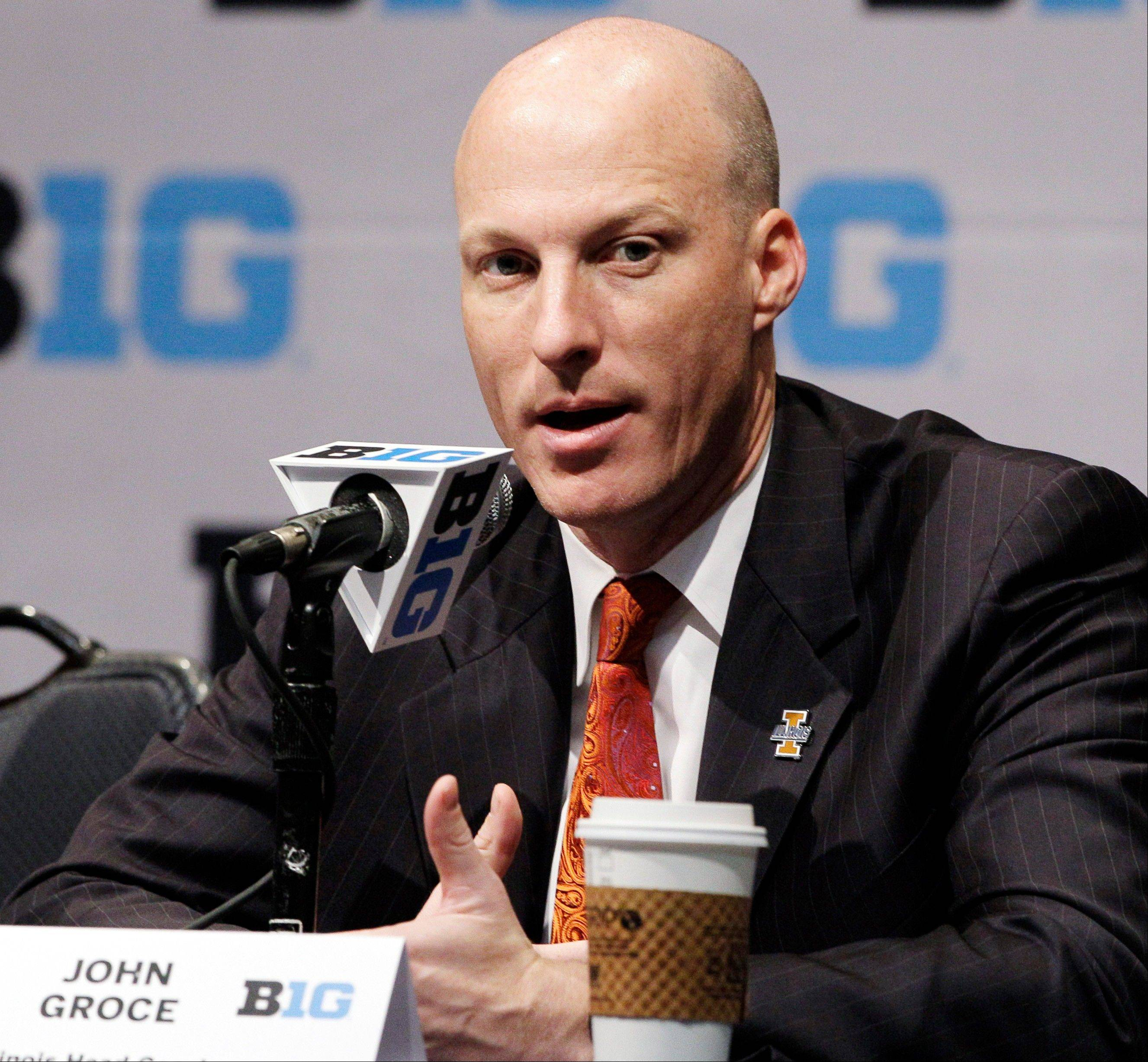 Illinois head coach John Groce expects his team to get better every day, but with five Big Ten schools in the Top 25 nationally, the Illini will be facing a big challenge in the conference.