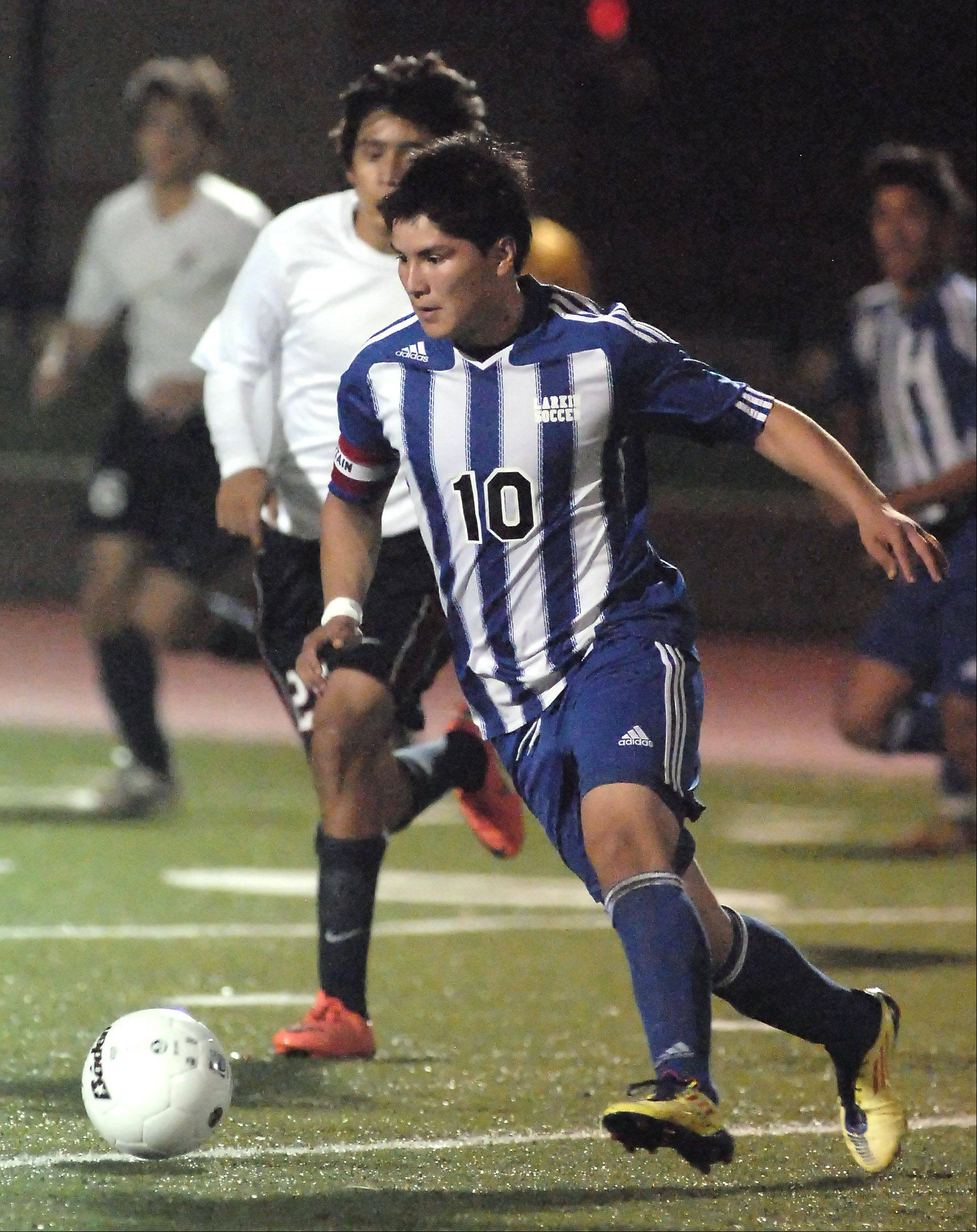 Larkin senior forward Erik Rodriguez is the honorary captain of the Daily Herald's All-Area team for a second straight season. Rodriguez had 22 goals and 14 assists heading into sectional play. An all-conference selection the last three years, Rodriguez led the Royals in scoring all four years.