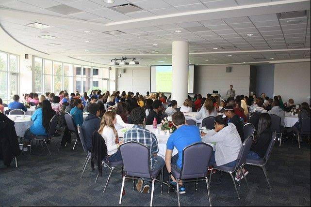 About 150 high school students attended the Student Leadership Challenge Experience at Harper College.