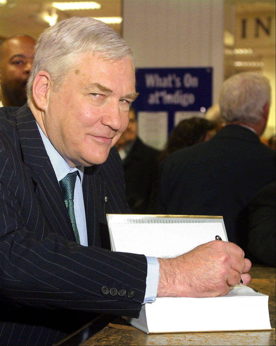 Bloomberg News file photo Conrad Black, who resigned as CEO of Hollinger International Inc., signs a copy of his book �Franklin Delano Roosevelt: Champion of Freedom� at a bookstore in Toronto, Canada, in 2003.