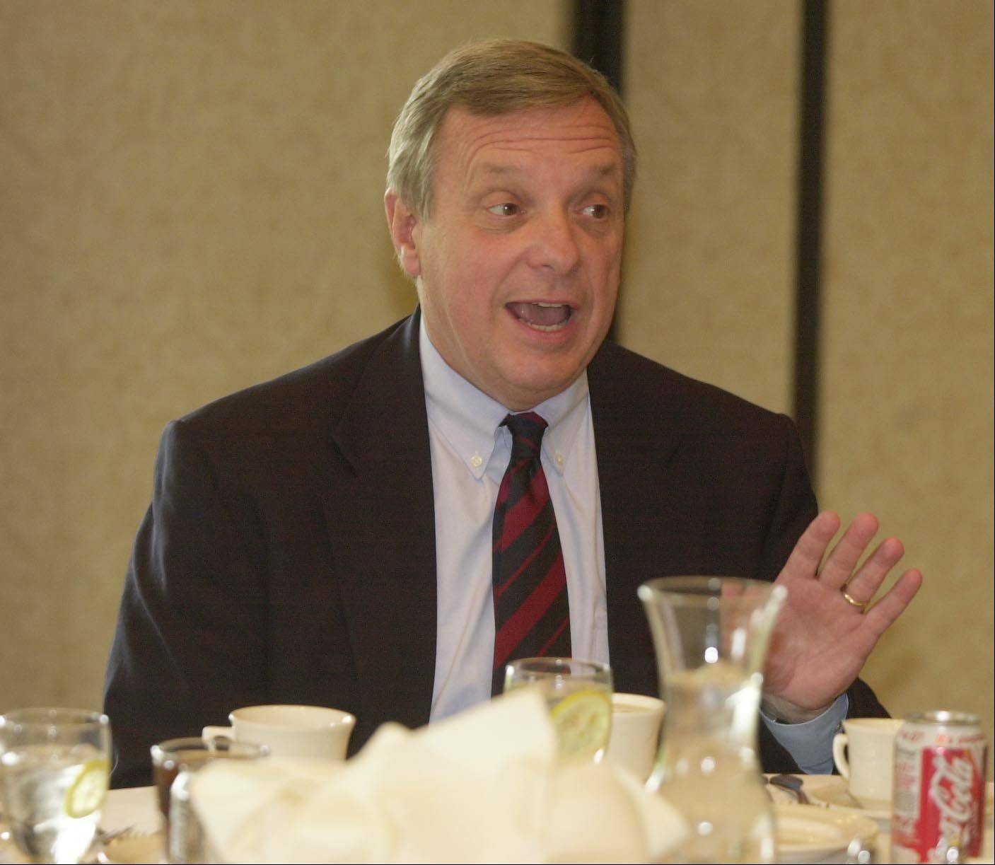Sen. Dick Durbin has lunch with representatives from DuPage County at Bloomingdale Golf Course in this file photo from 2004.