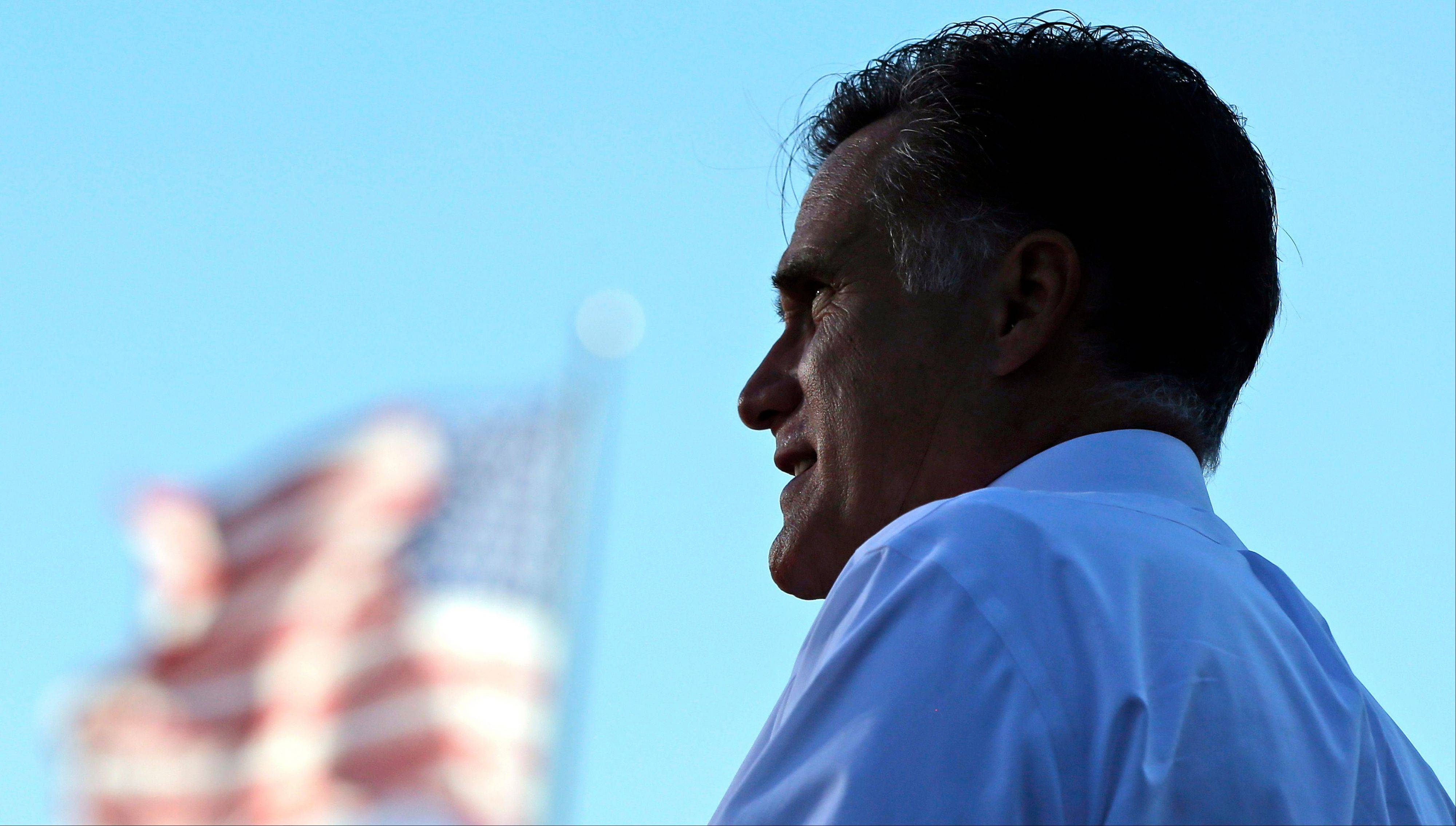 Republican presidential candidate and former Massachusetts Gov. Mitt Romney campaigns at Worthington Industries, a metal processing company, in Worthington, Ohio, Thursday, Oct. 25, 2012.