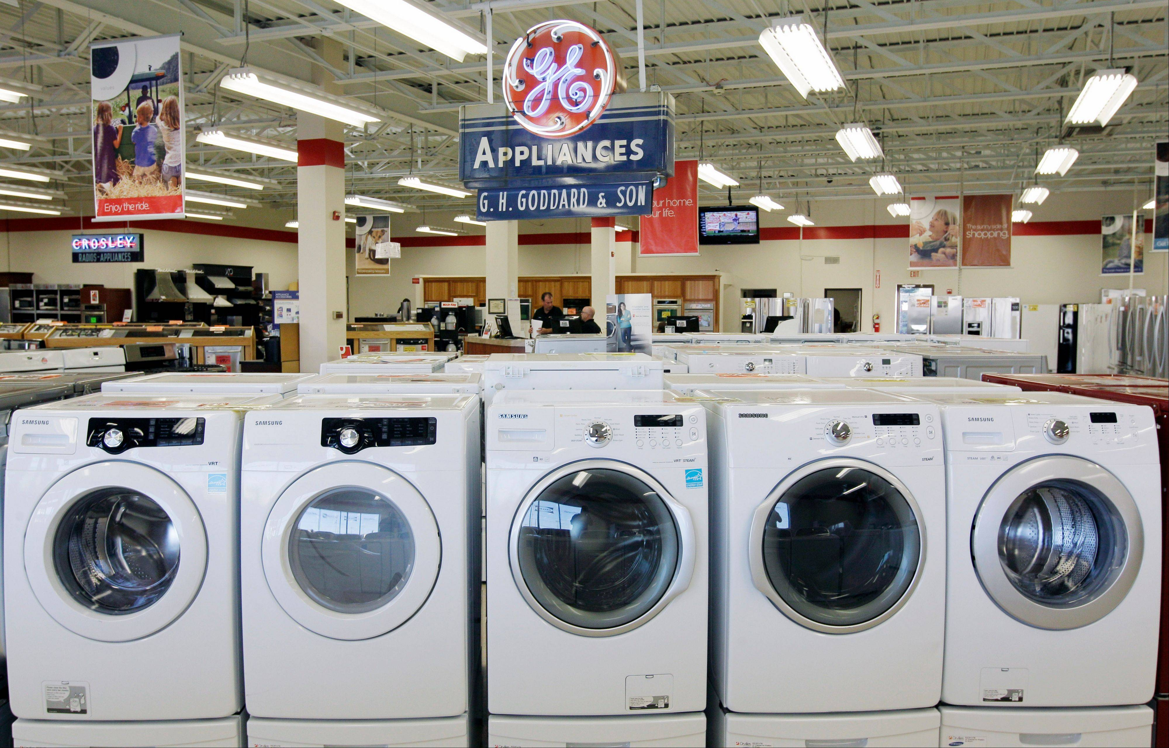 Appliances at Orville's Home Appliances store in Amherst, N.Y. The government's snapshot Friday, Oct. 26, 2012, of the U.S. economy's growth will be its last before Americans choose a president in 11 days.