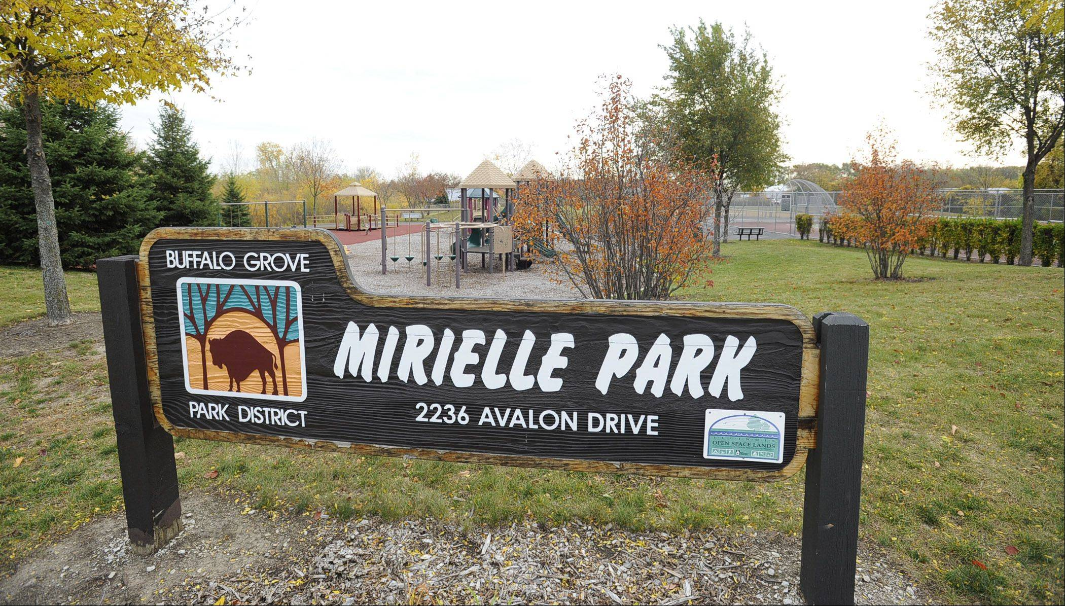 The Buffalo Grove Park District's Mirielle Park is found in the Mirielle neighborhood.