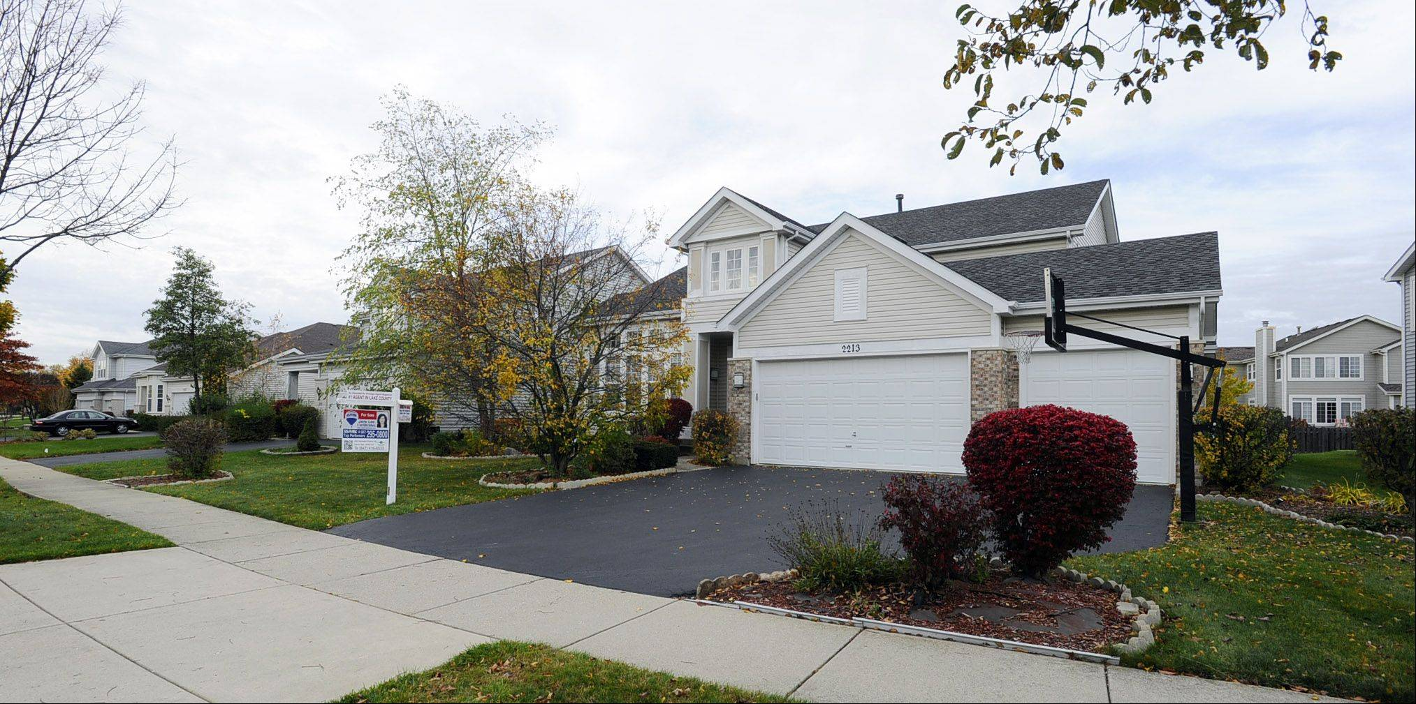 These homes on Avalon Drive in Buffalo Grove are typical of those found throughout the Mirielle subdivision.