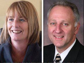 Democrat Deb Conroy, left, opposes Republican Daniel Kordik in the race for the 46th State House District.