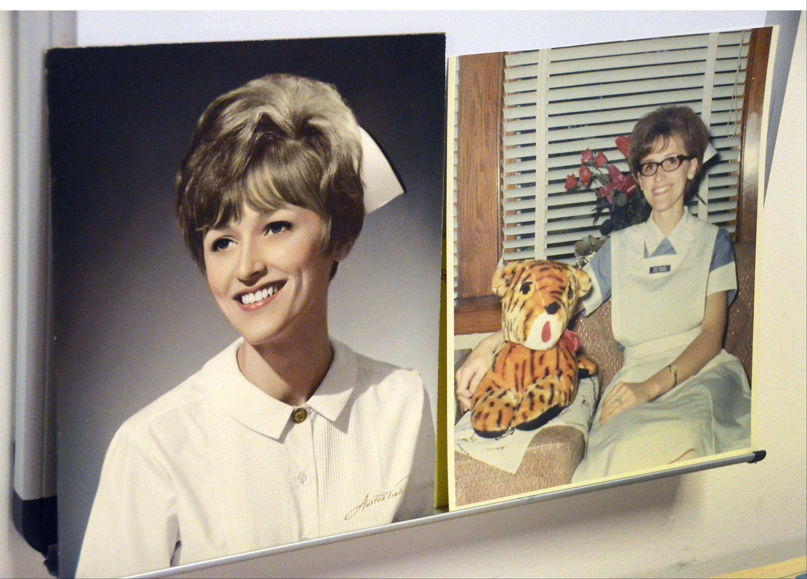 Ann Skwarek of Prospect Heights in her earlier years as a nurse. She is retiring after working for 40 years in the neonatal intensive care unit at Advocate Lutheran General Hospital.